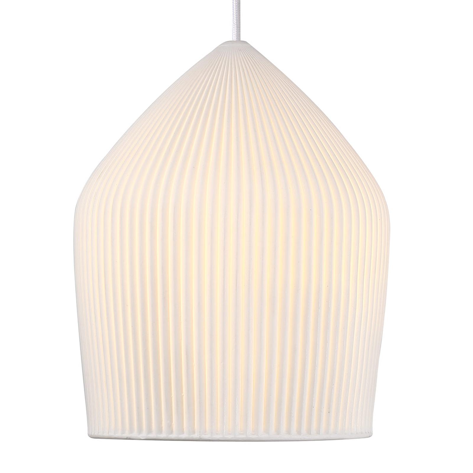 Biała ceramiczna lampa wisząca Reykjavik Ø 22 cm
