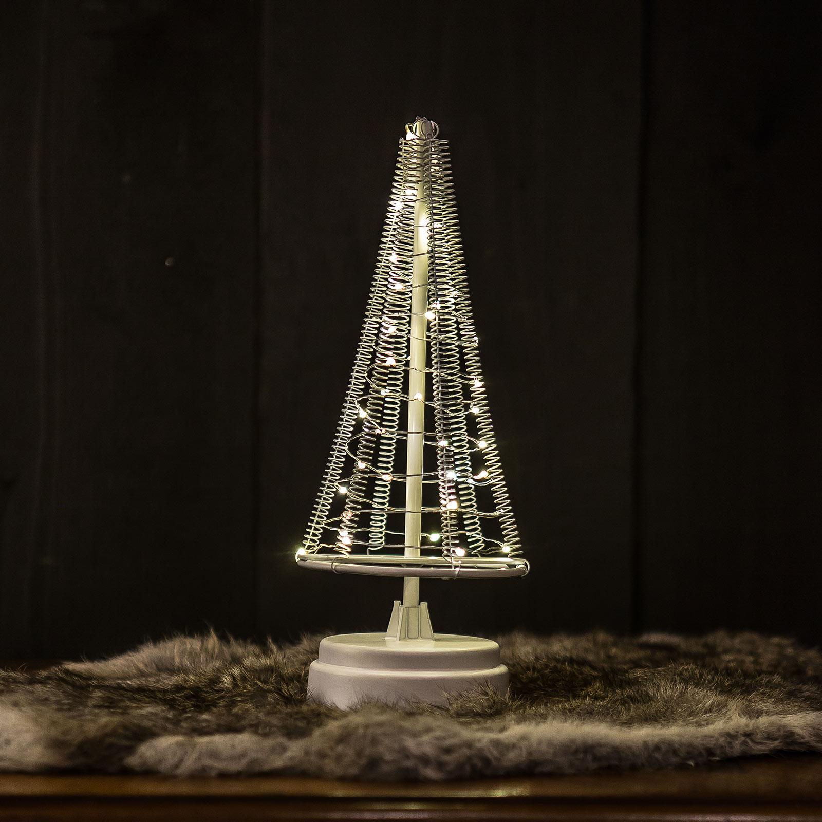 Tre Santa`s Tree, ledning sølv høyde 26 cm