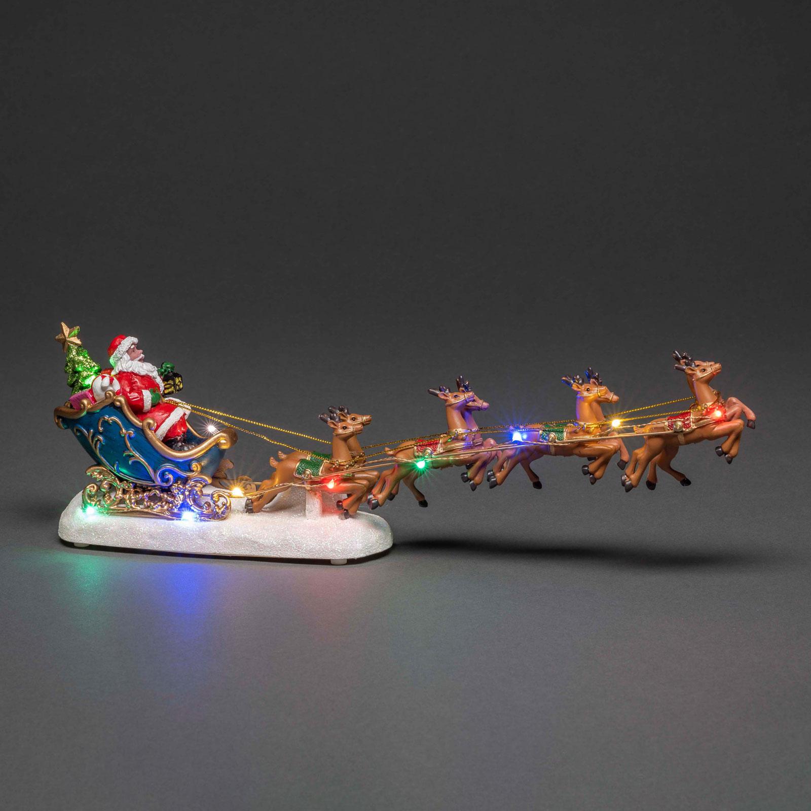 Paysage LED Père Noël en traîneau