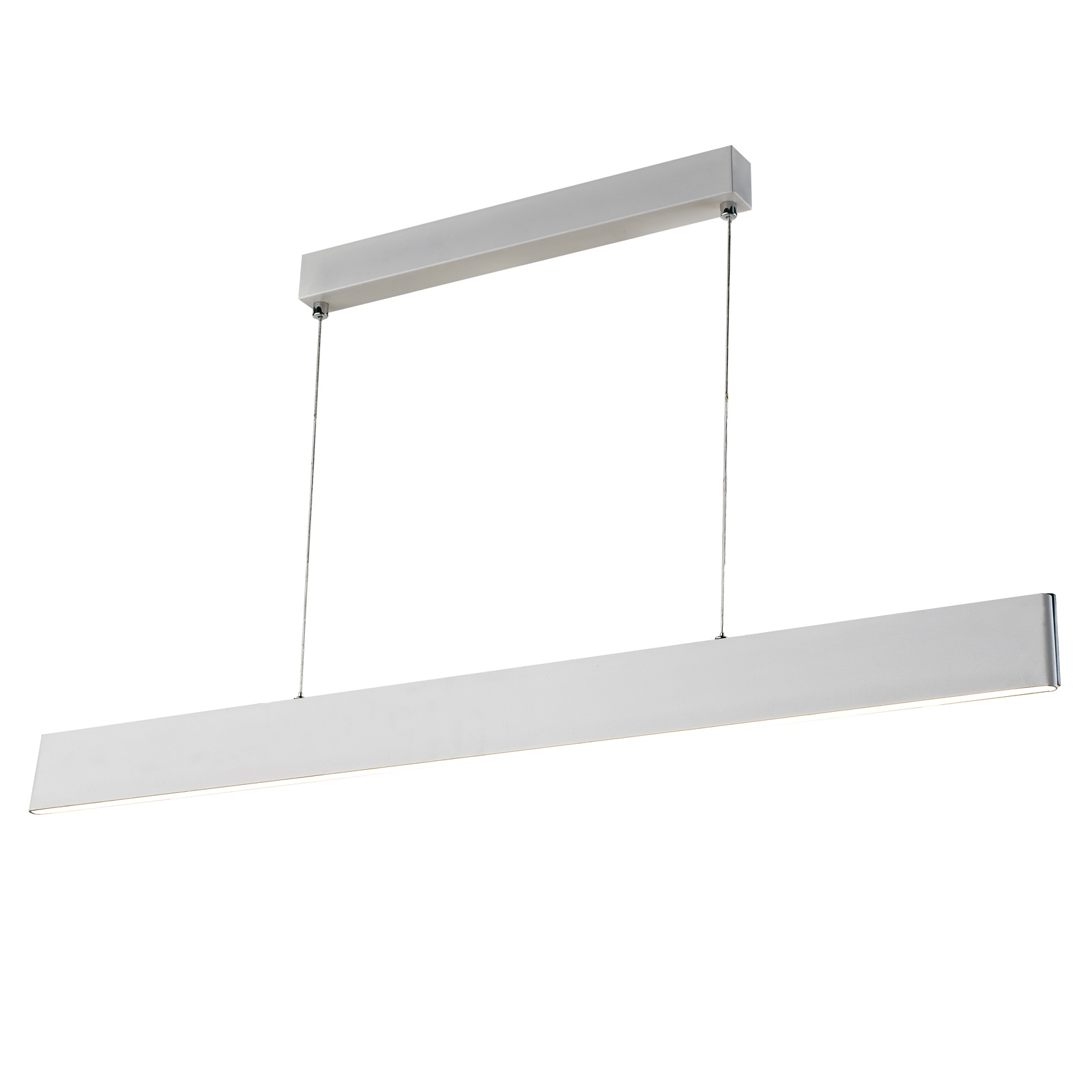 Suspension LED Sileas, 122 cm, blanche, dimmable