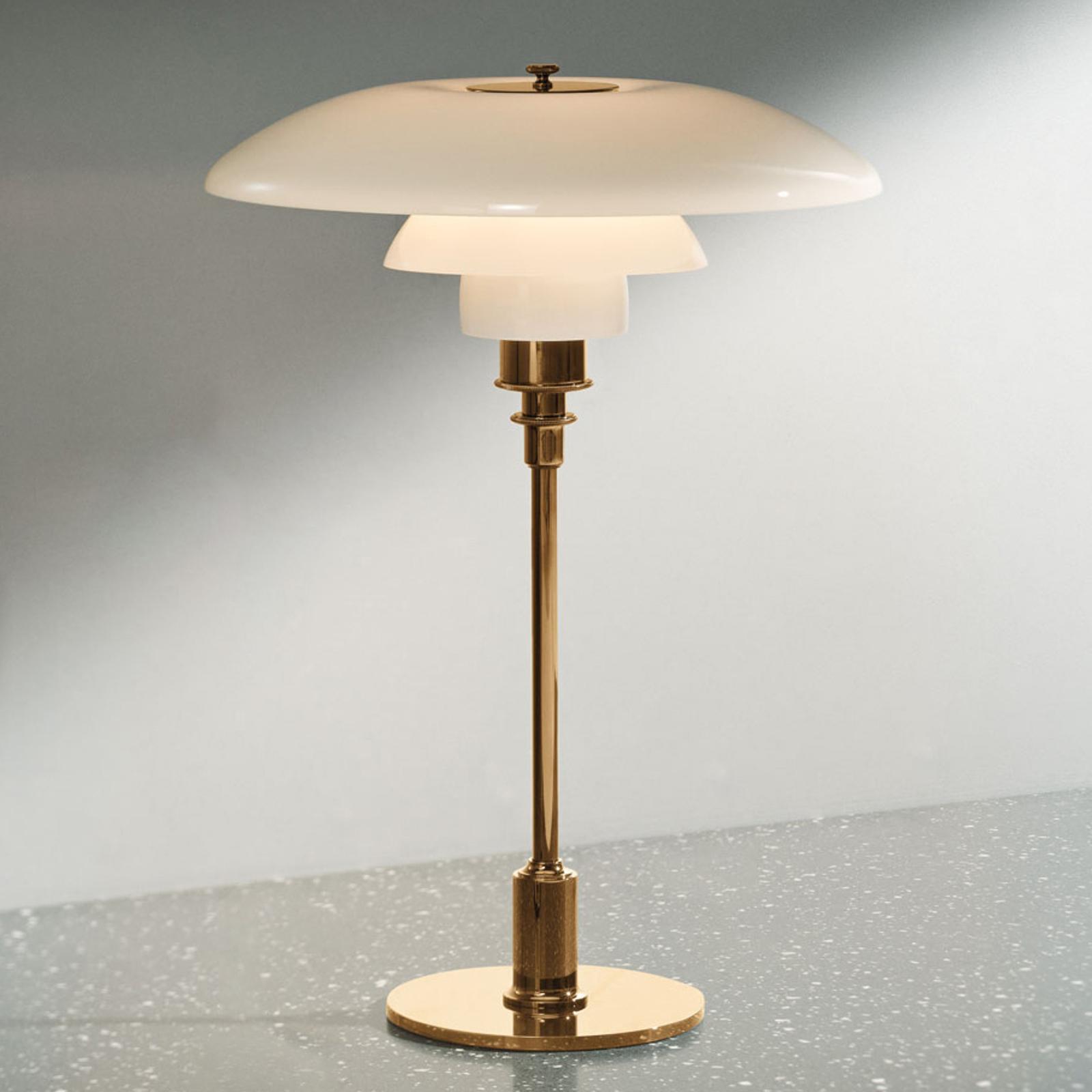Louis Poulsen PH 3/2 Tischlampe Messing-weiß