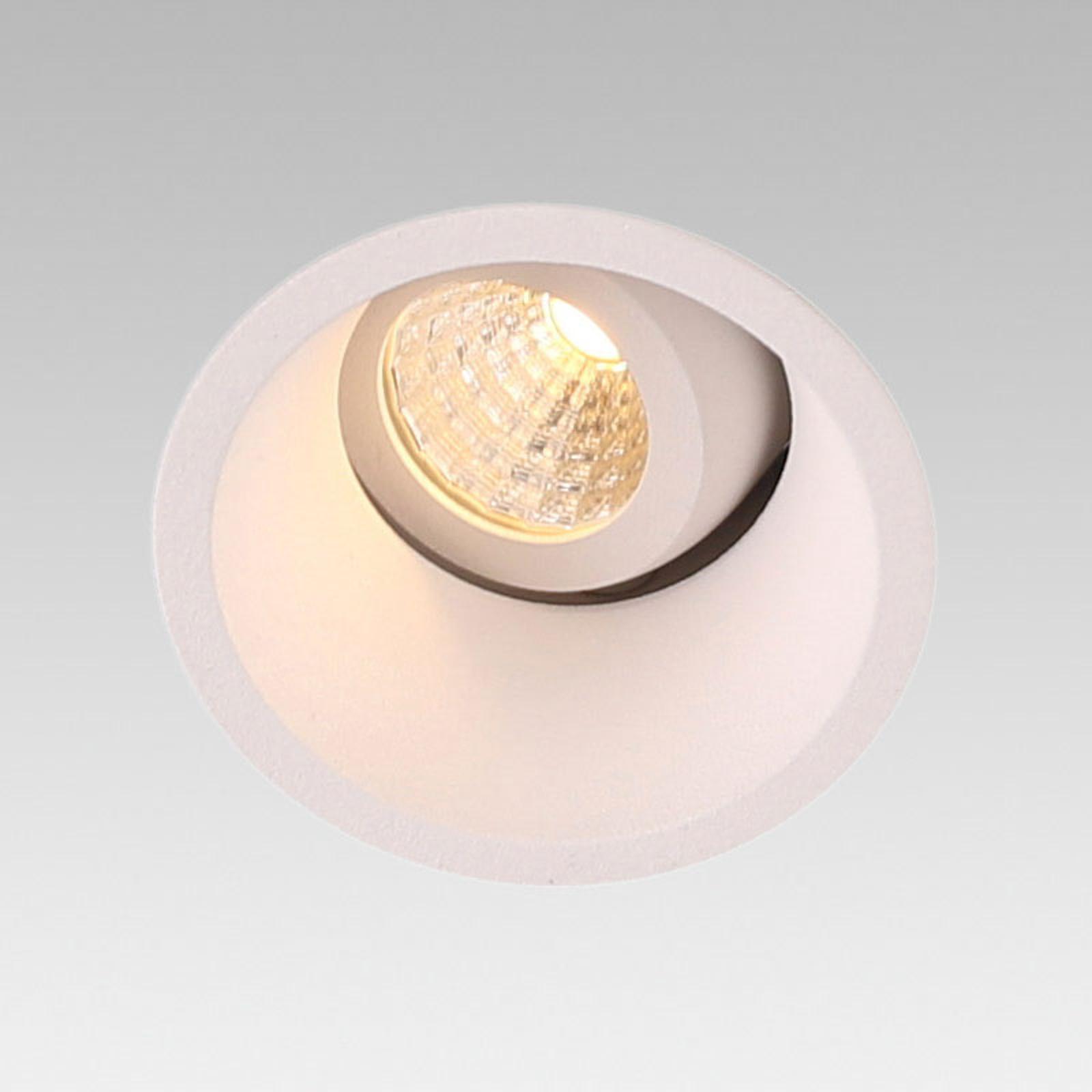 LED downlight Fox Orientable, dimbaar, gezwenkt