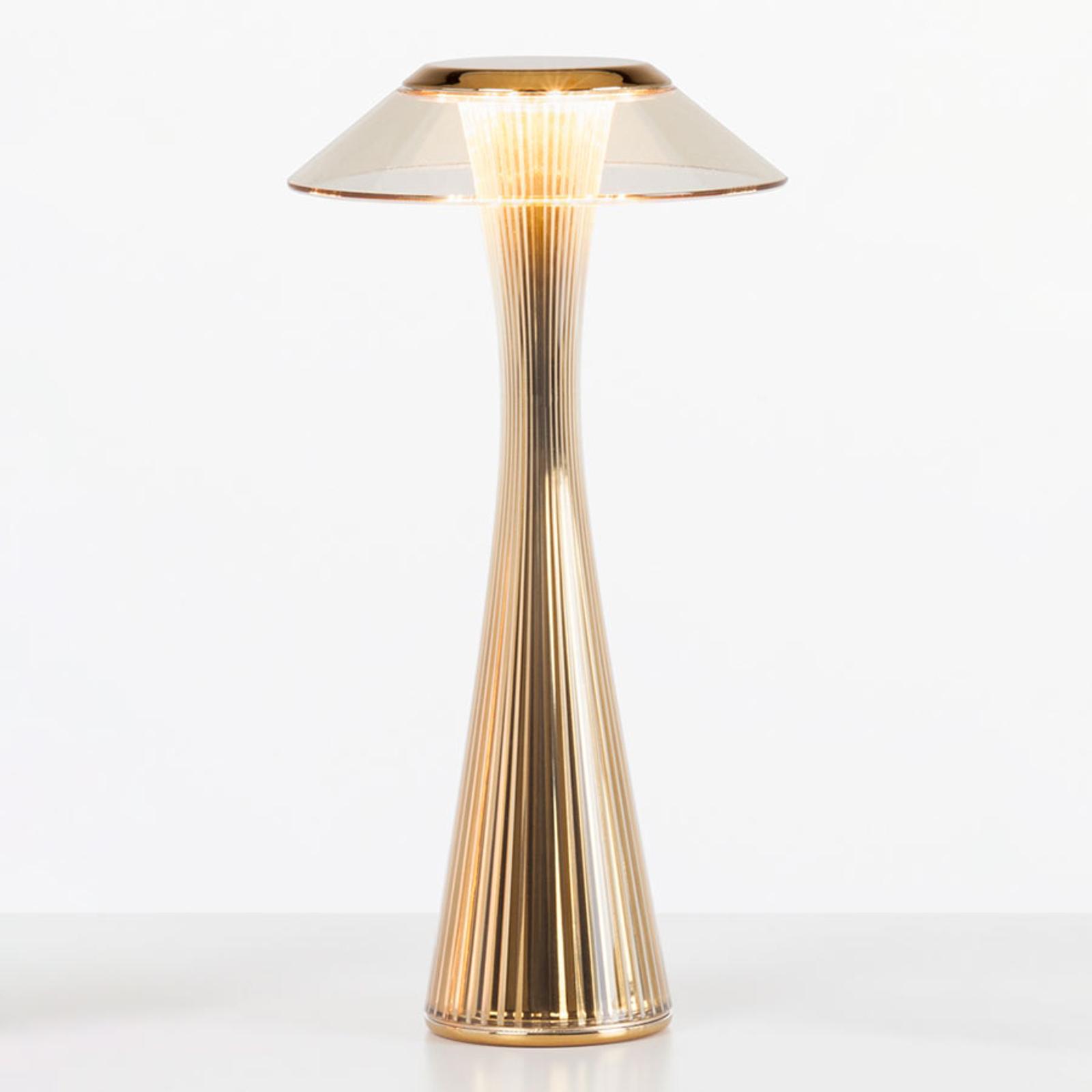 Kartell Space - lampa stołowa LED, złota