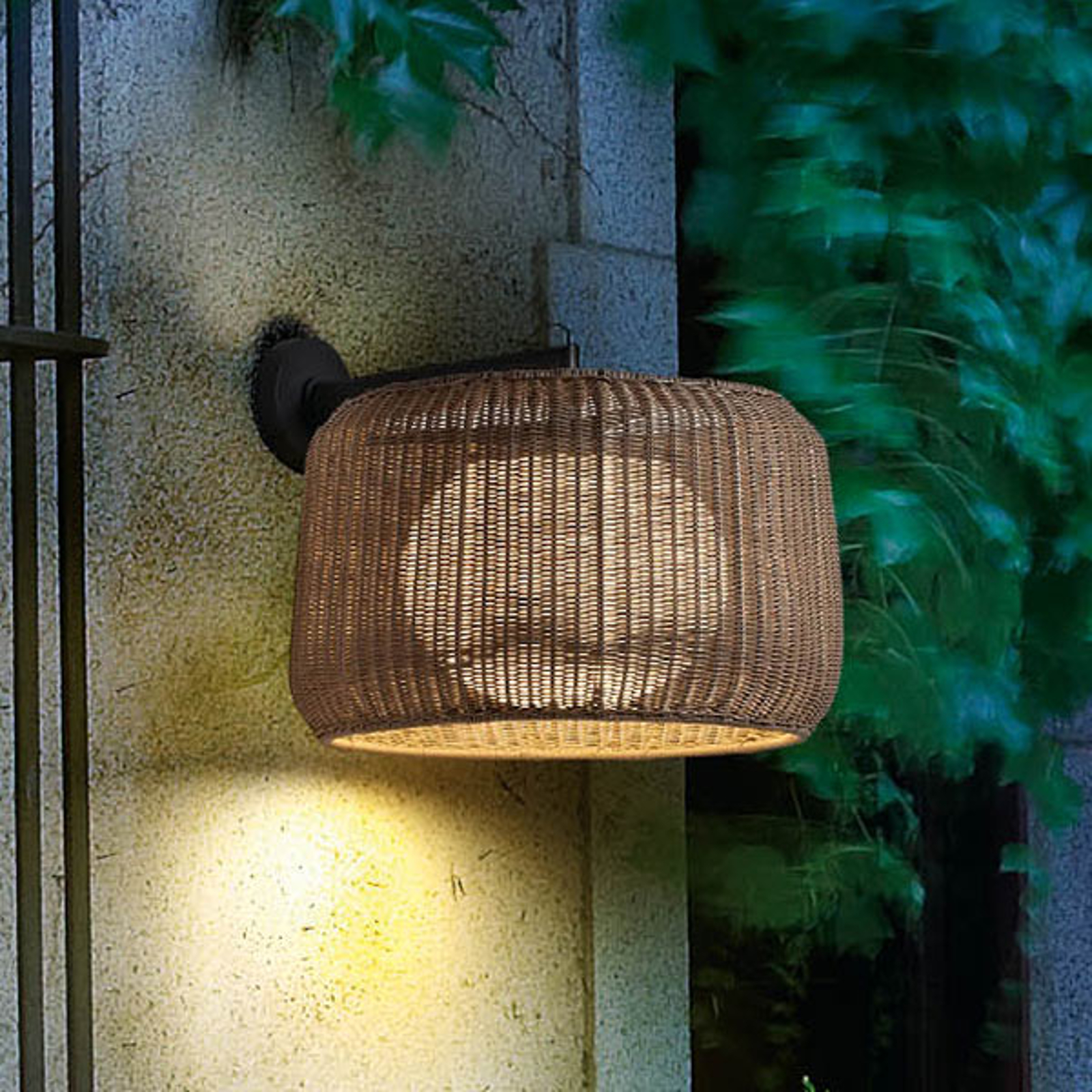 Bover Fora A - edele buitenwandlamp grafiet-bruin