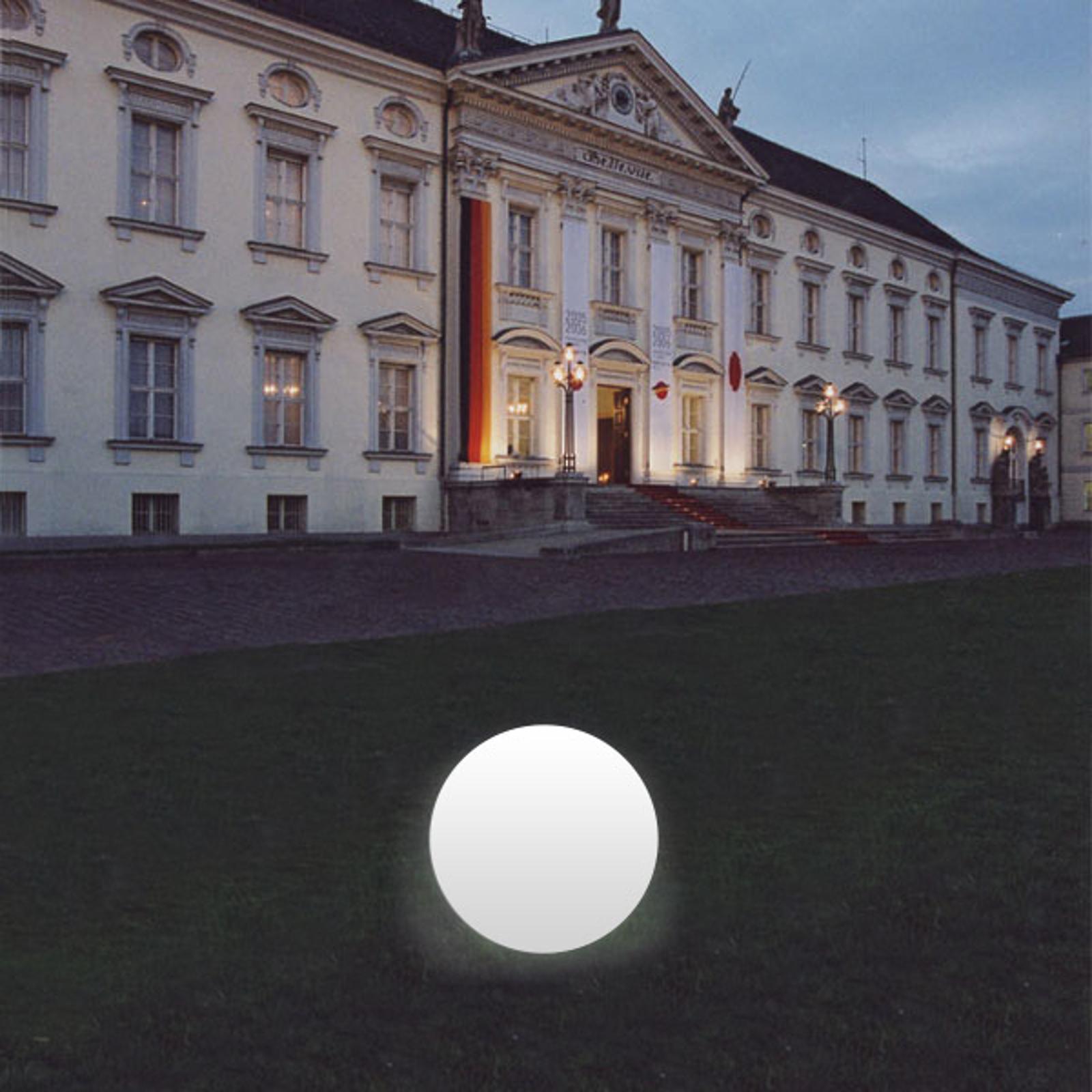 Kugelleuchte Snowball weiß mit Alu-Fuß 12 cm Klein