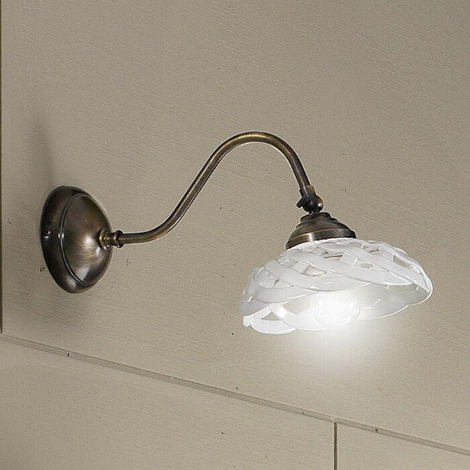 Lampa ścienna Emanuel z ceramicznym kloszem