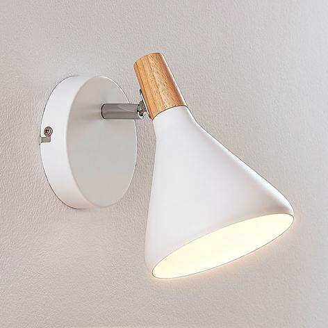 Nástěnné LED světlo Arina v bílé, 1bodové
