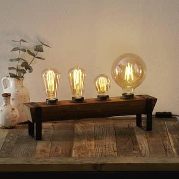 Bordlampe Legno av tre, 4 lyskilder