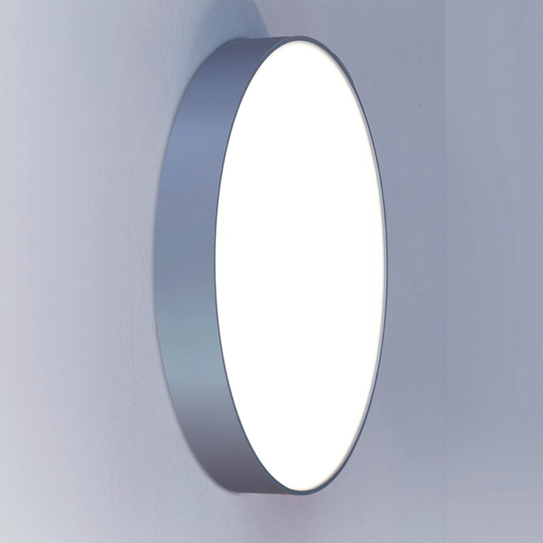 Ronde wandlamp Basic-A1 zilver