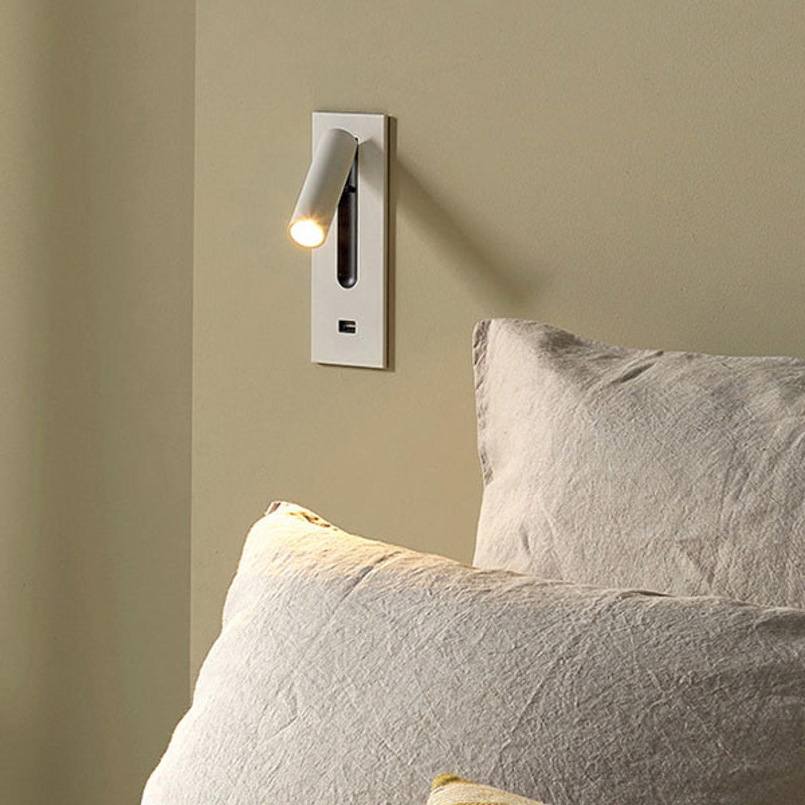 Astro Fuse USB LED innfelt vegglampe, hvit