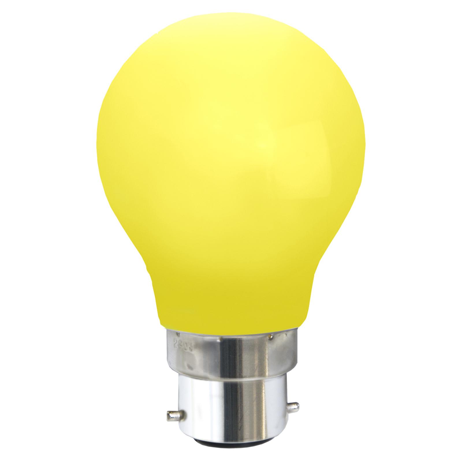 Ampoule LED B22 0,8W, jaune