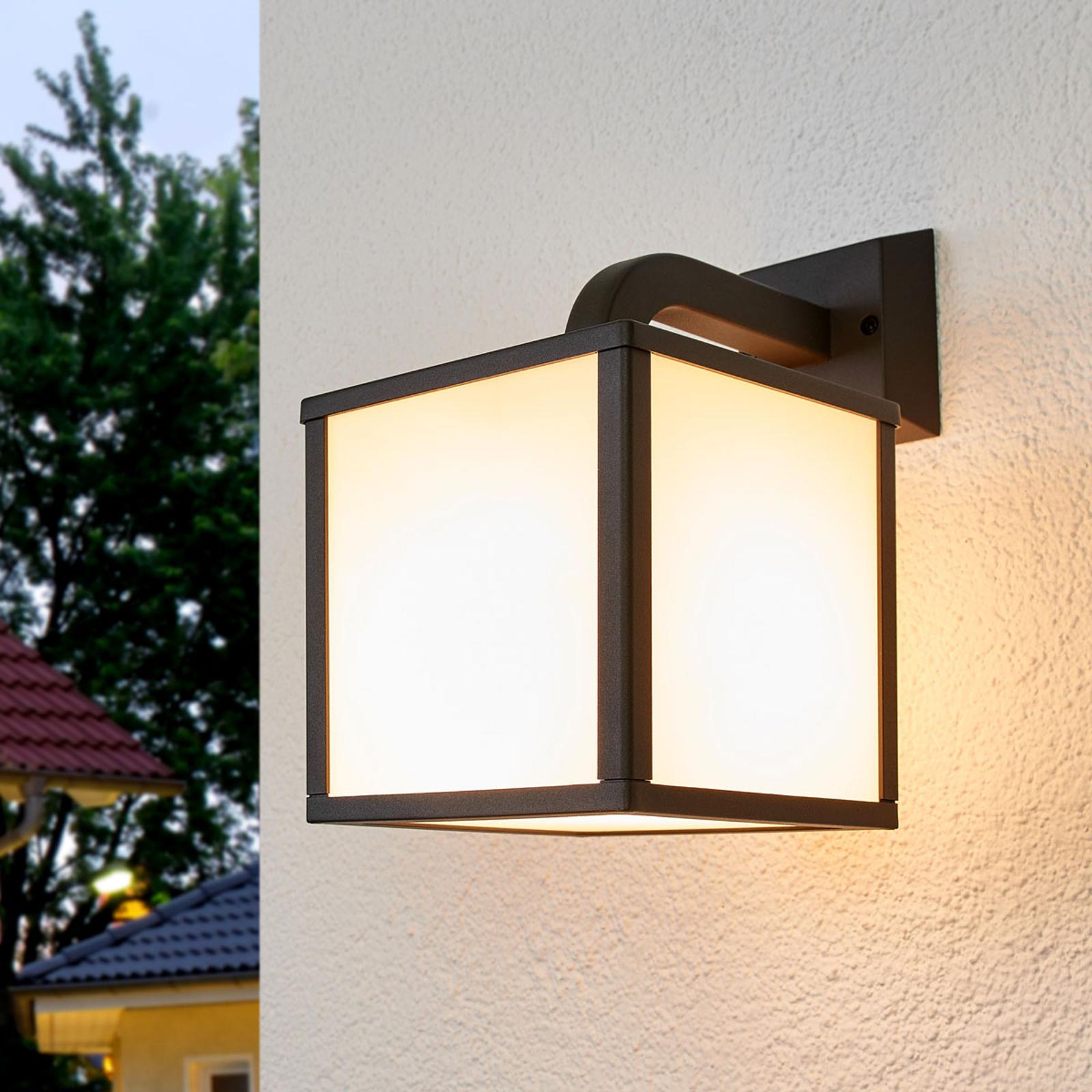 Applique d'extérieur LED Cubango, abat-jour cube