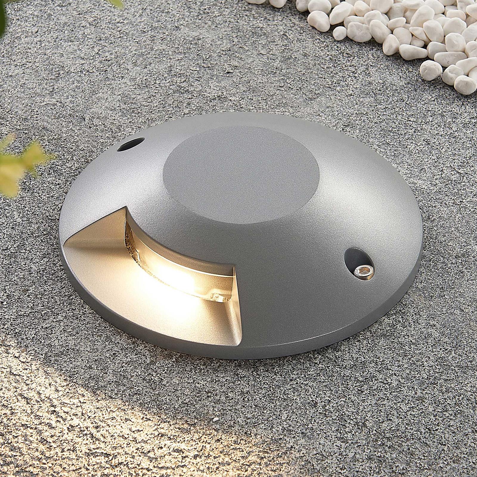 Lucande Jeffrey LED-lattiaspotti, 1-lamp.