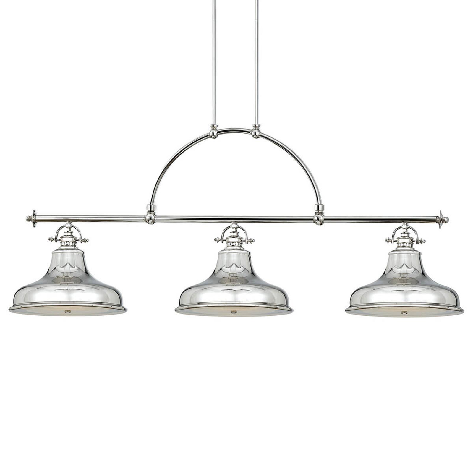 Suspension Emery 3 lampes argentée