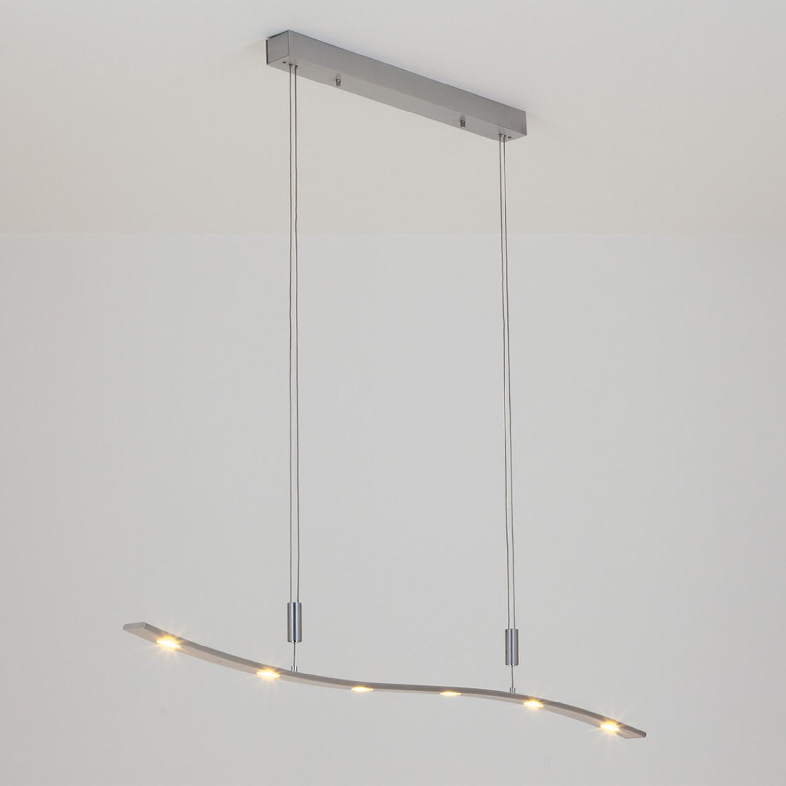 Lampa wisząca LED XALU z reg. wys., 120 cm
