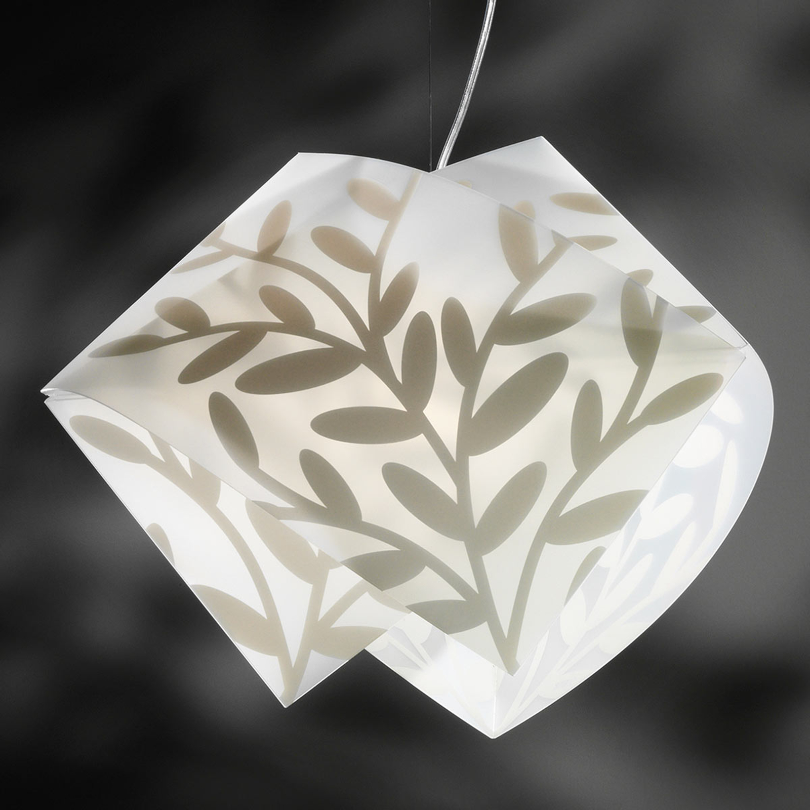 Atrakcyjna lampa wisząca GEMMY DAFNE, biała
