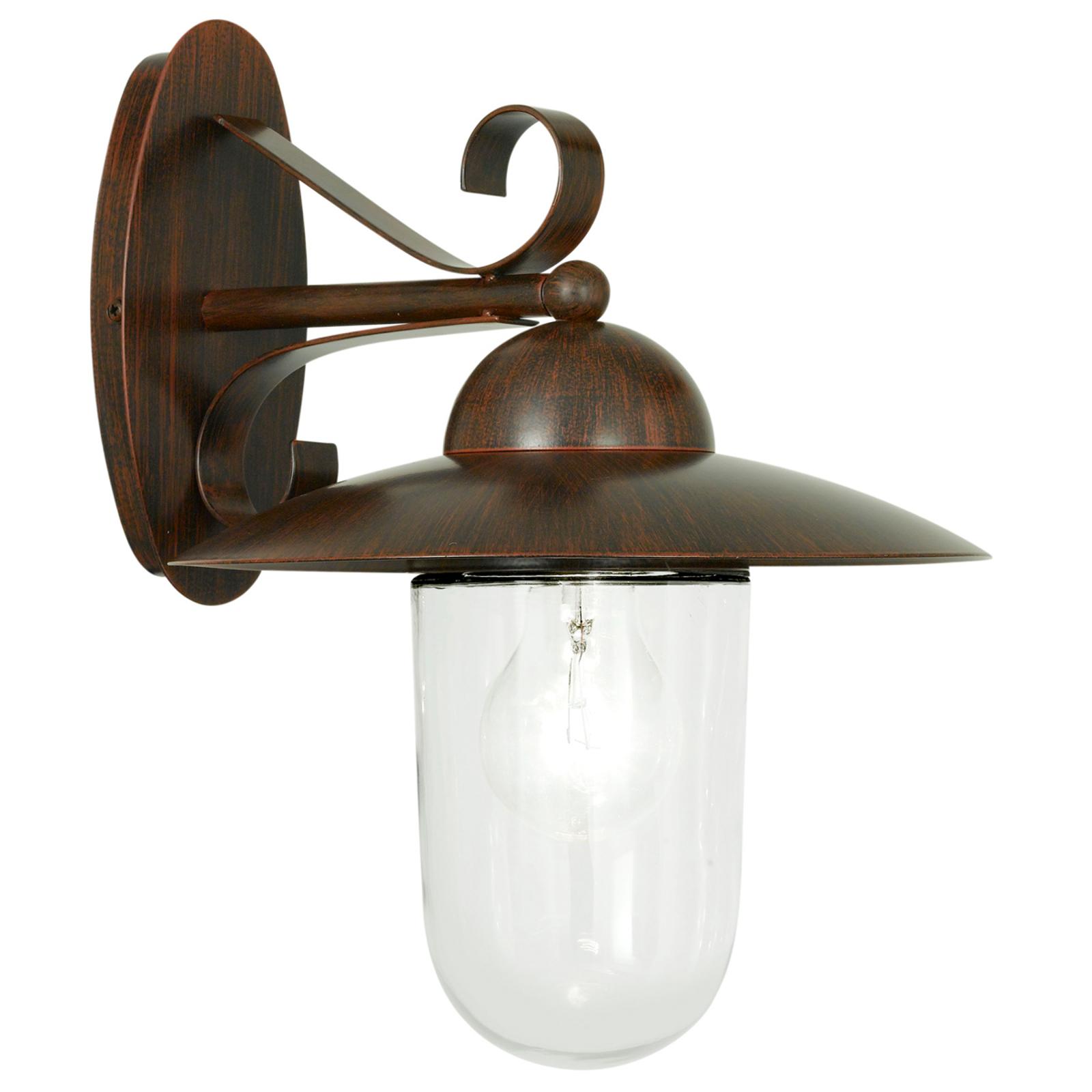 MILTON I udendørs væglampe i antik-brun