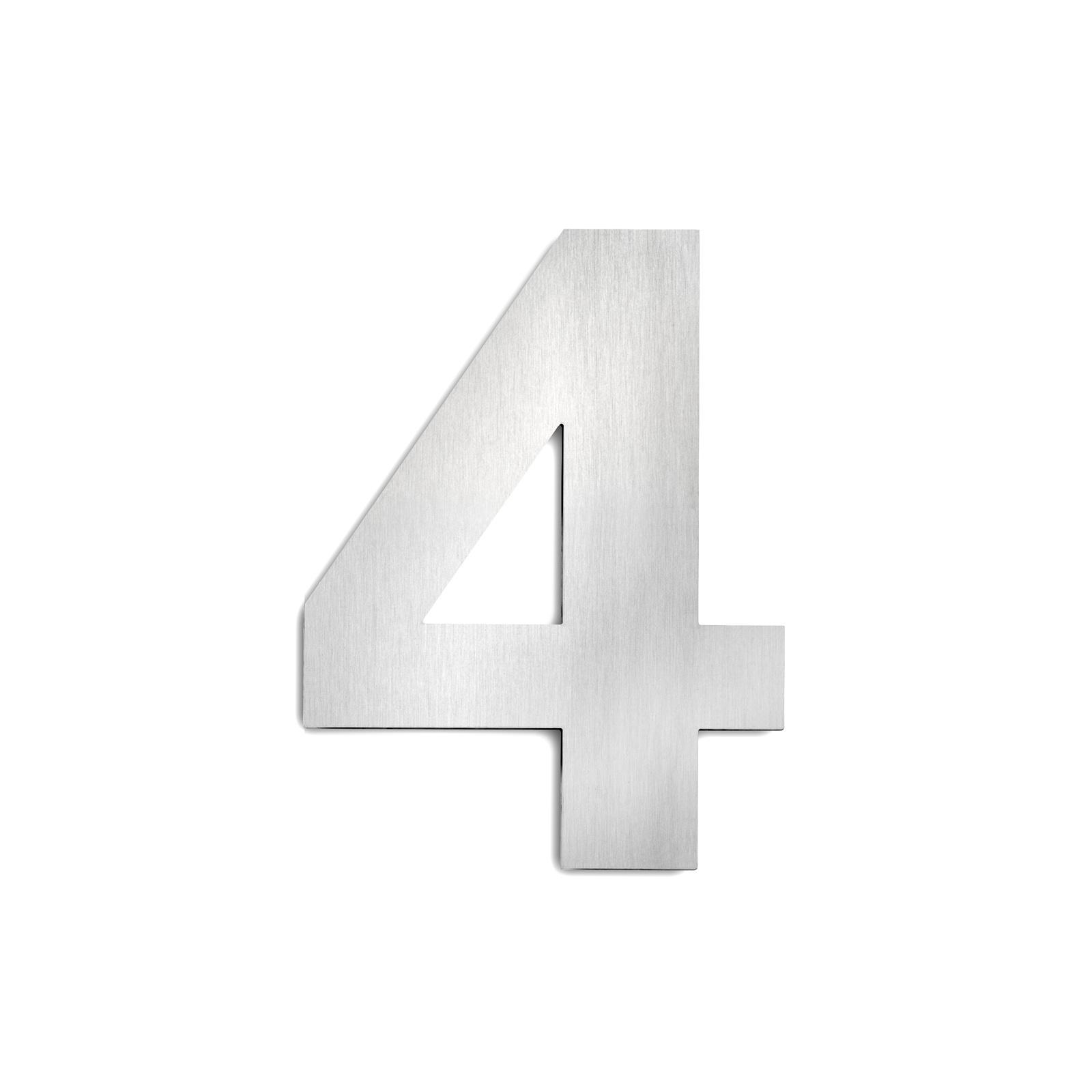 Domovní čísla z ušlechtilé oceli velikost 4