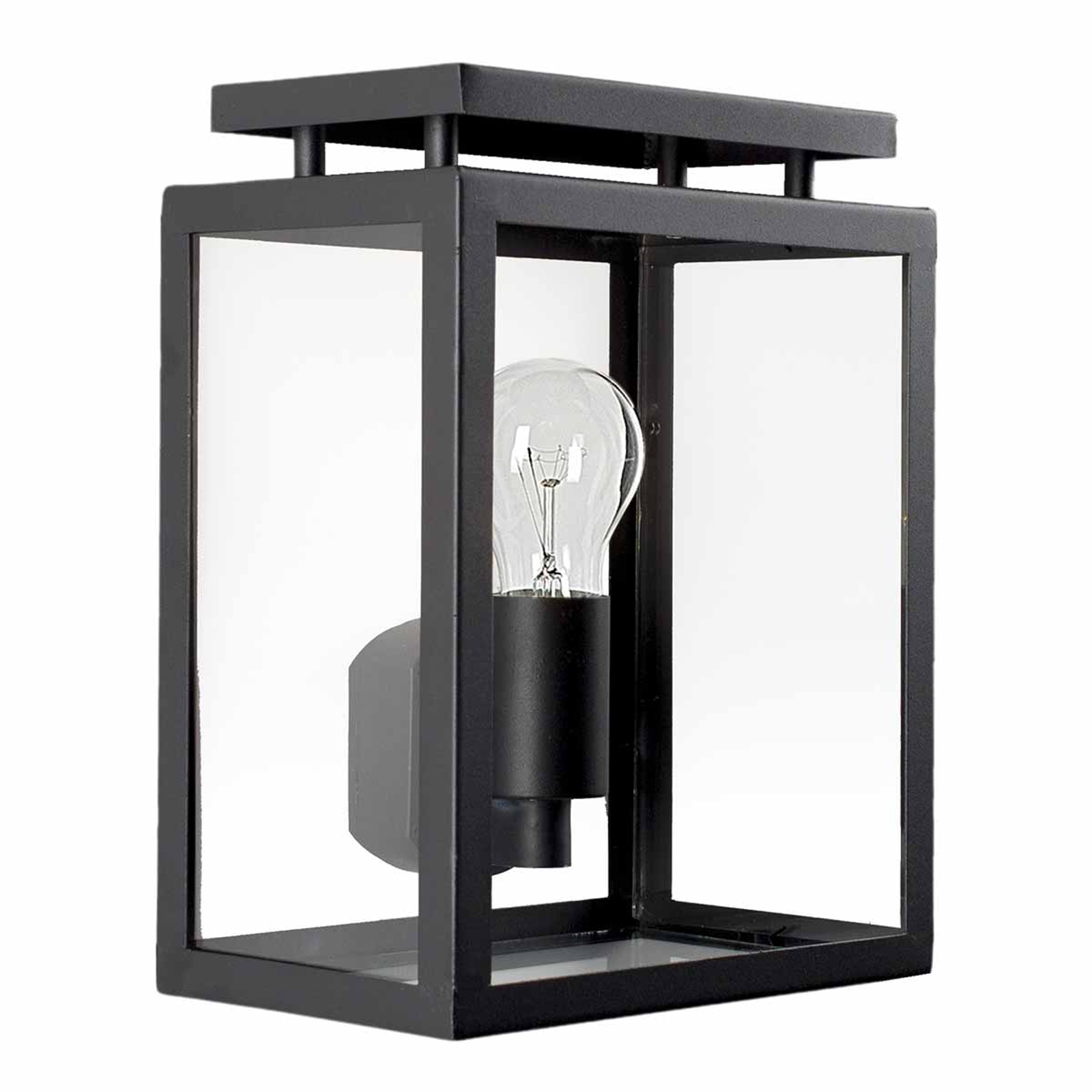 Buitenwandlamp DE Vecht, 28 cm, zwart