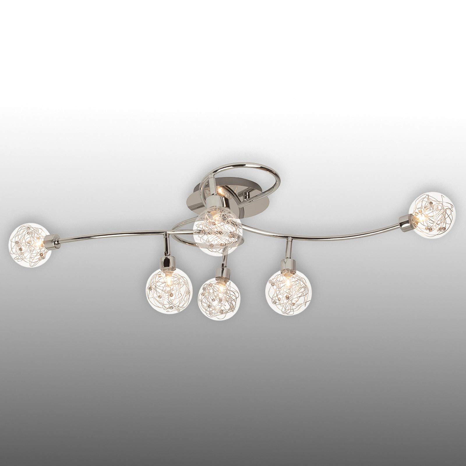 Large ceiling lamp Joya with six lampshades_1509047_1