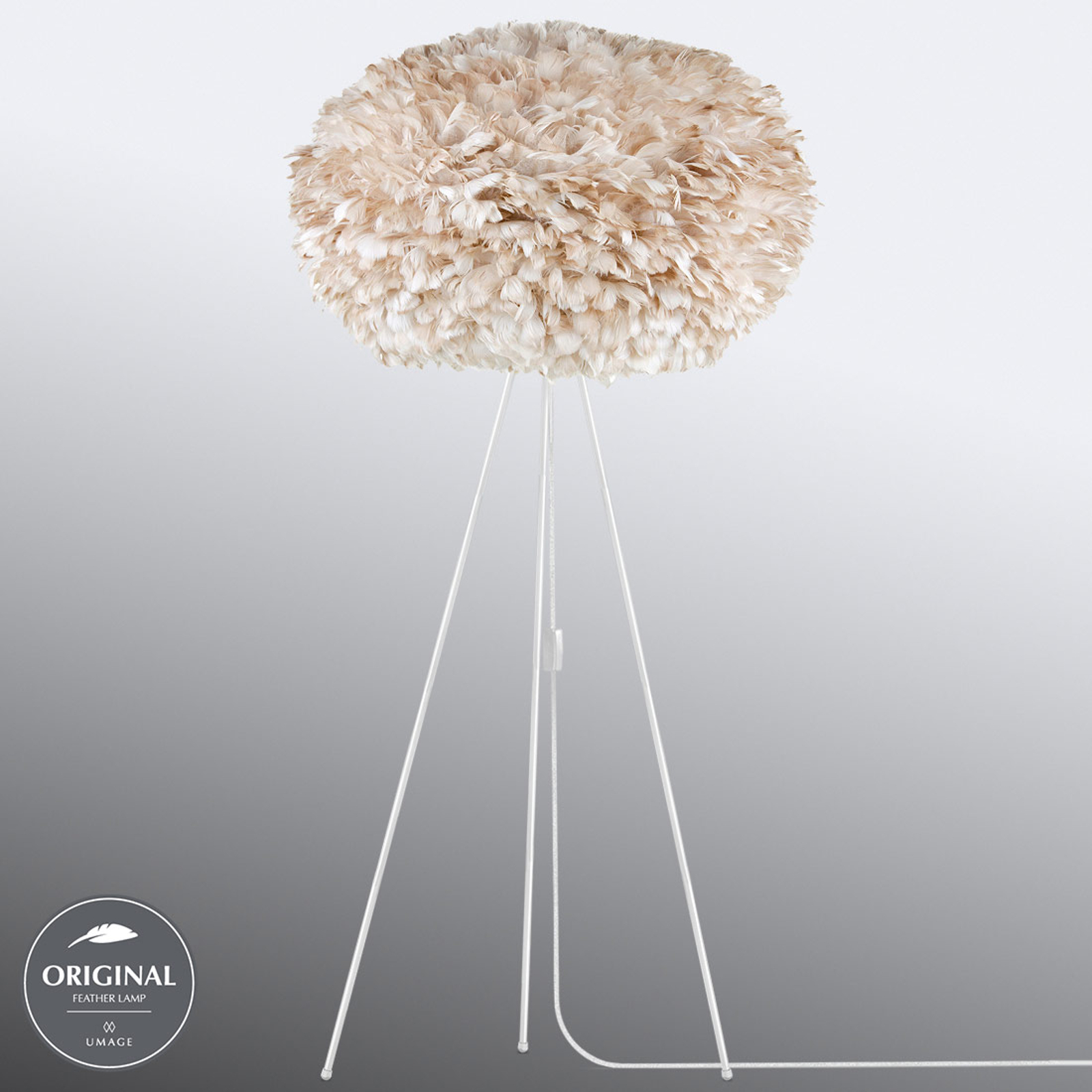 UMAGE Eos X-large lampadaire trépied brun clair
