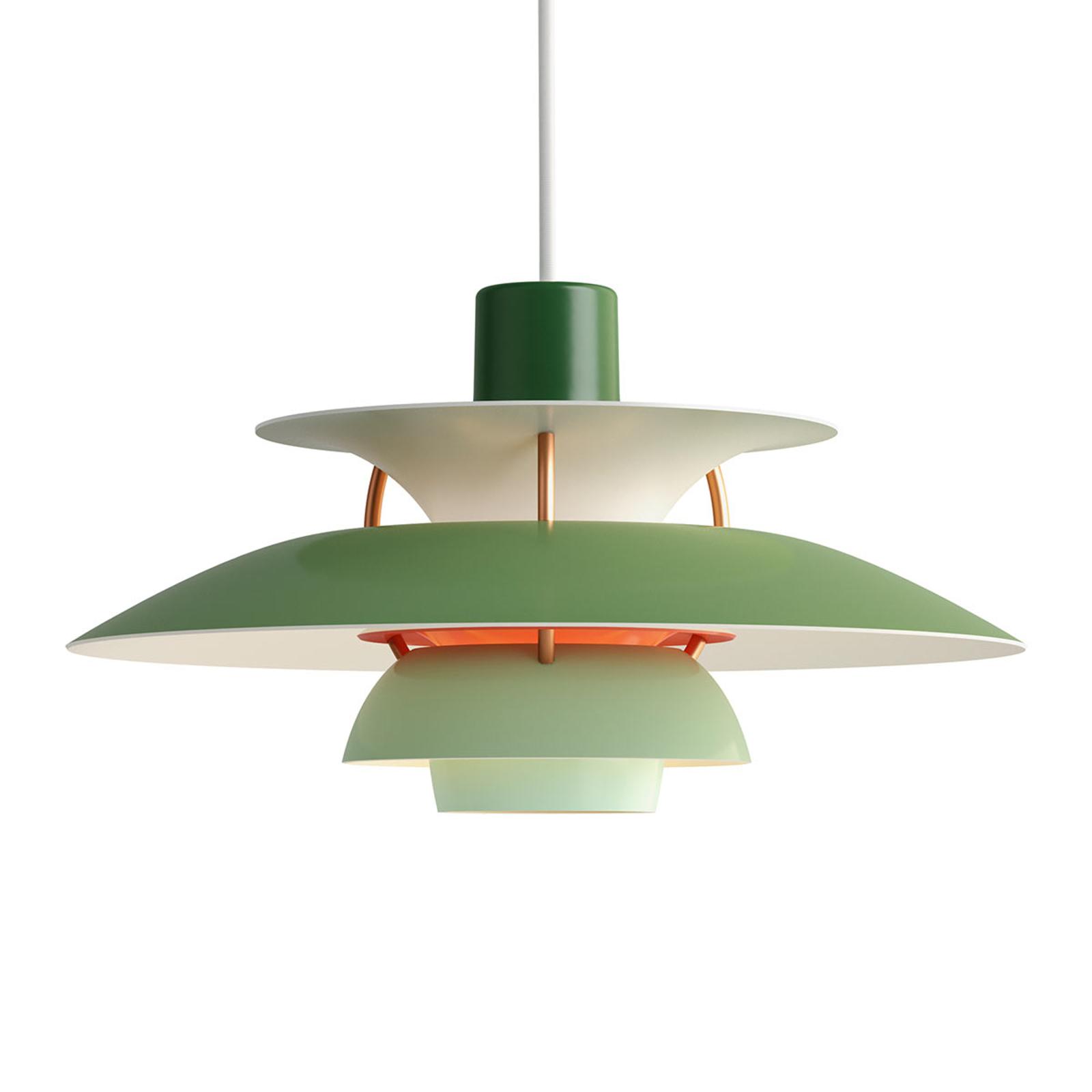 Louis Poulsen PH5Mini lampada a sospensione verde
