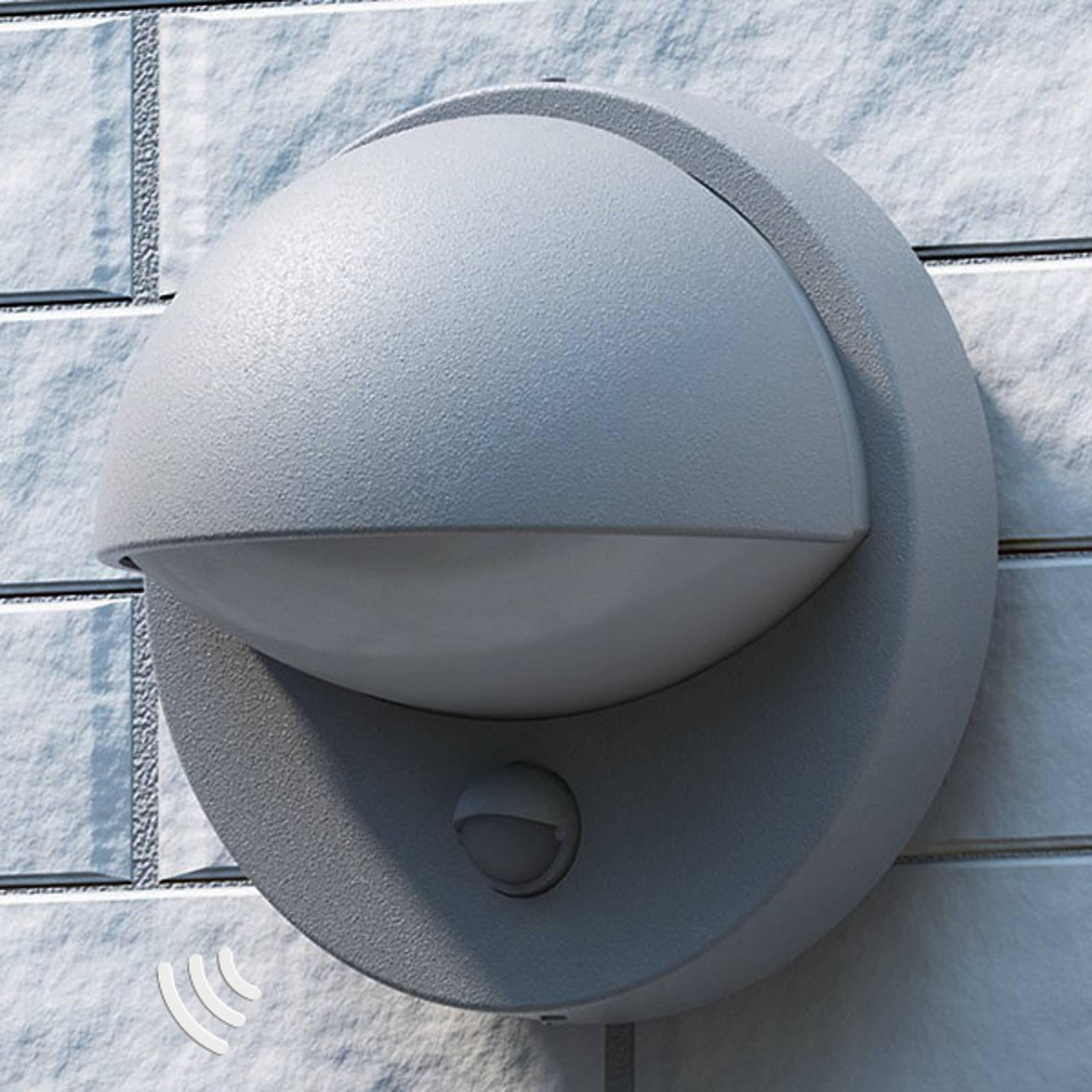 Energiebesparende buitenwandlamp Vida, grijs BW