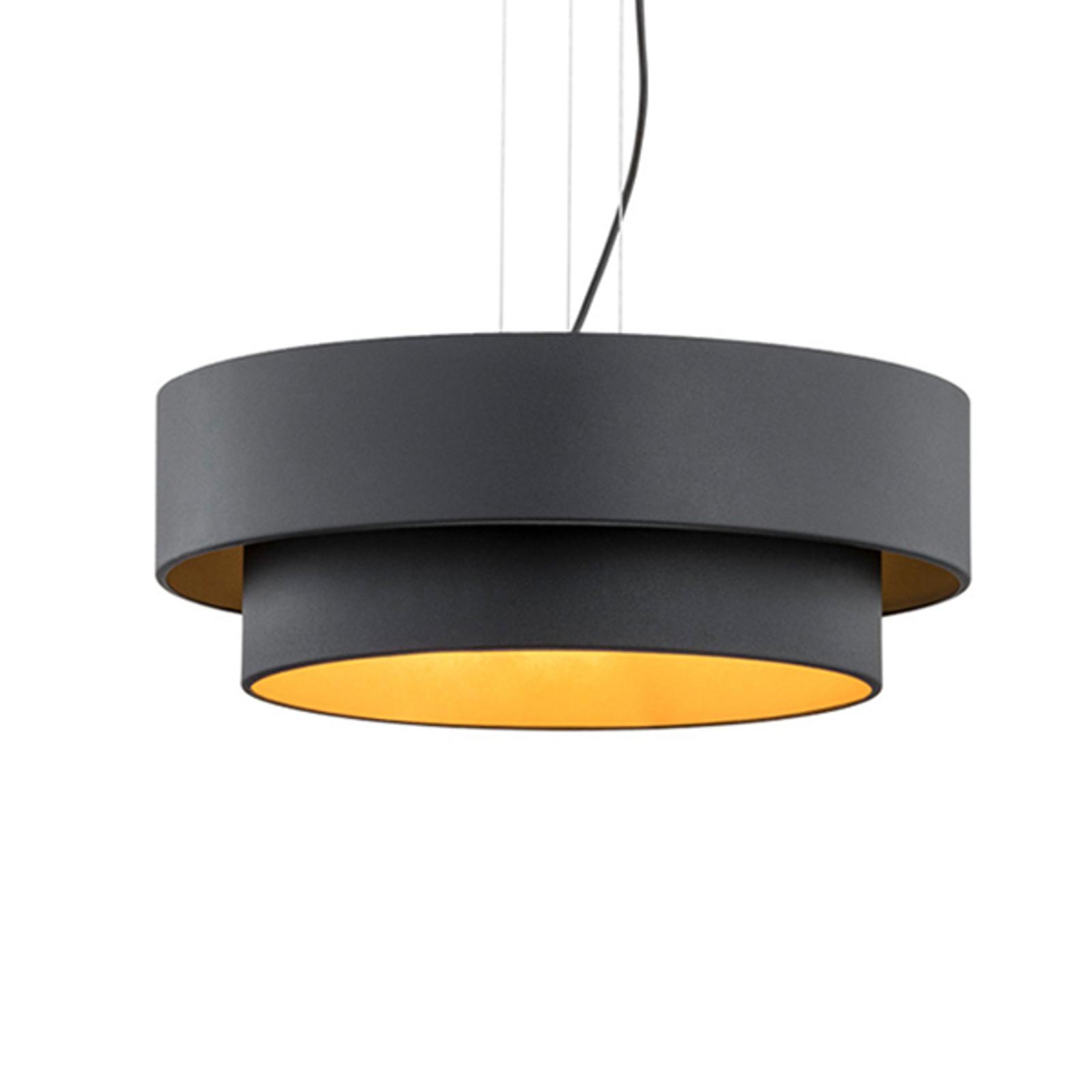 Suspension Fredik, Ø 45 cm, noire/dorée