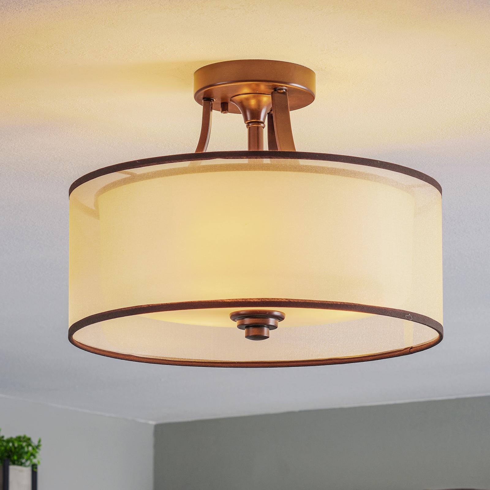 Plafondlamp Lacey met dubbele kap