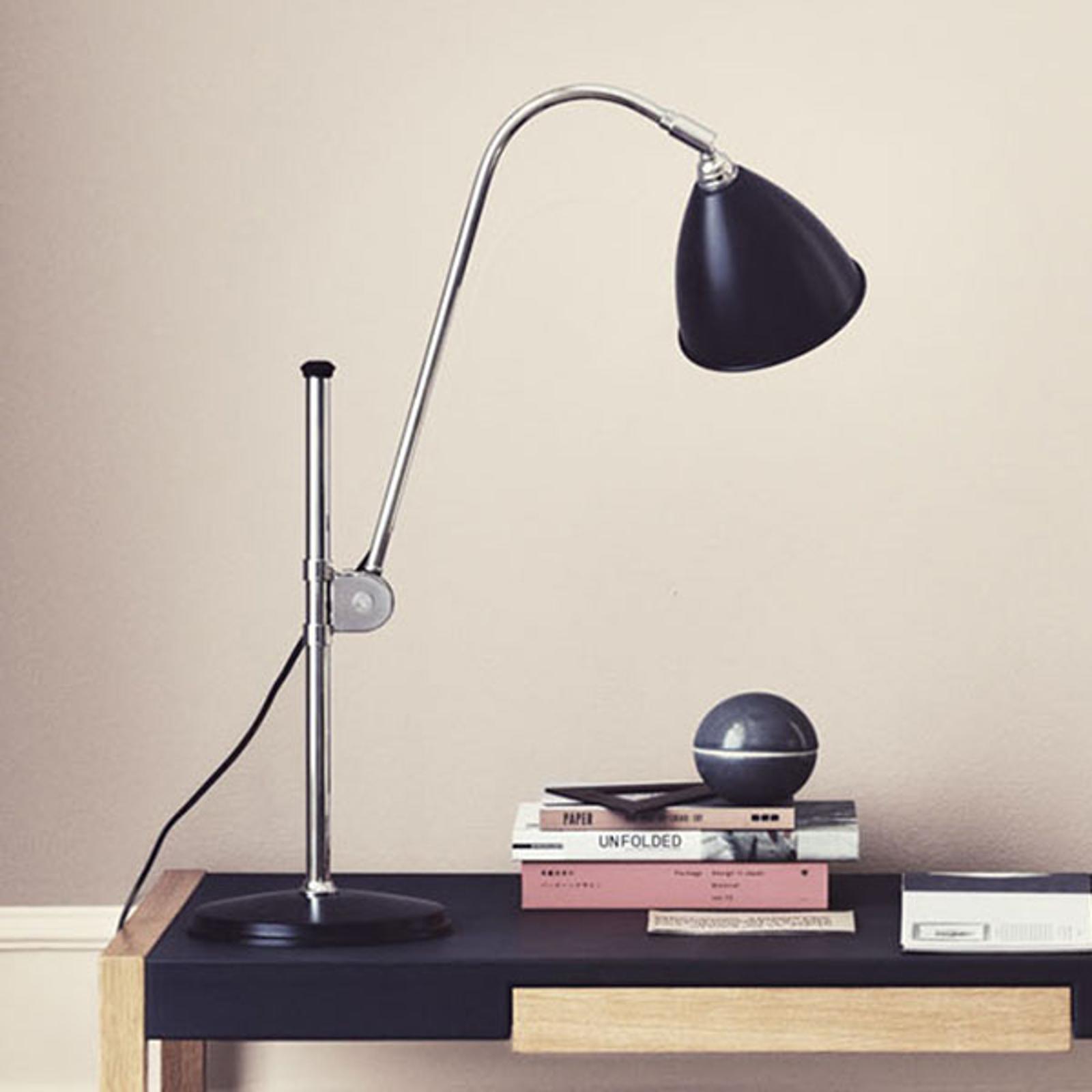 GUBI Bestlite BL1 lampa stołowa chrom/czarna