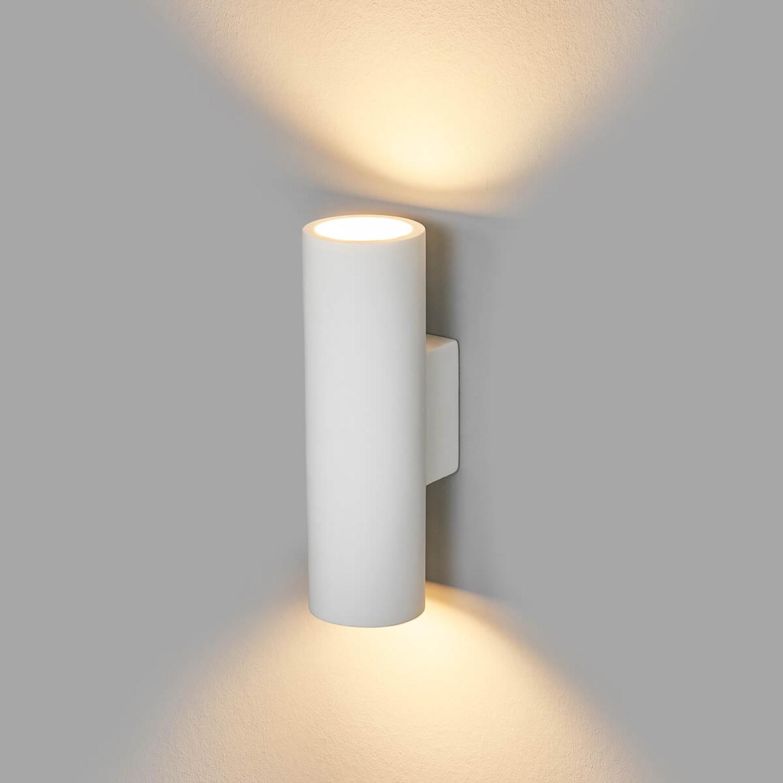 Gips wandlamp Norwin met 2 lichtbronnen