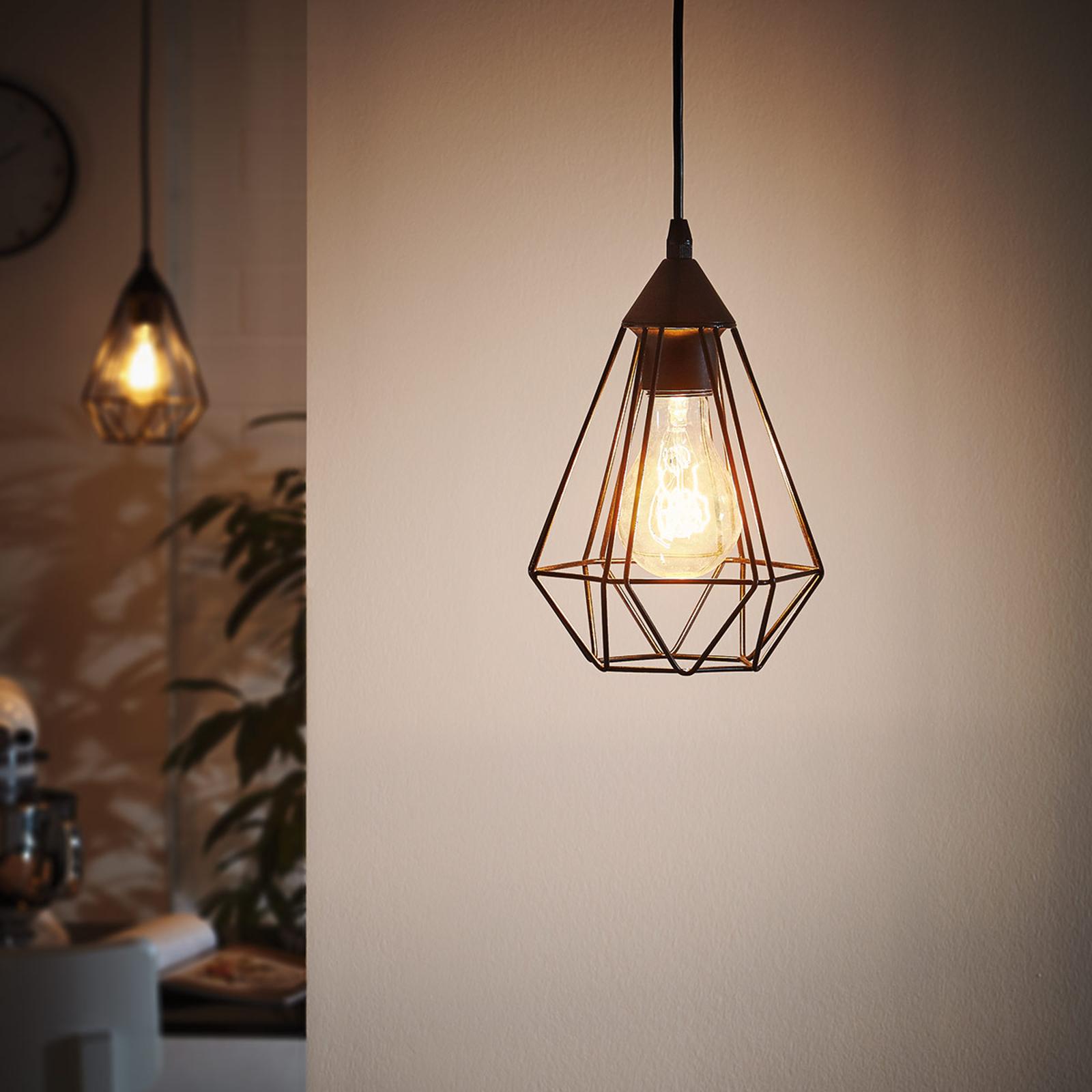 Suspension Tarbes à 1 lampe, 17,5cm, noir