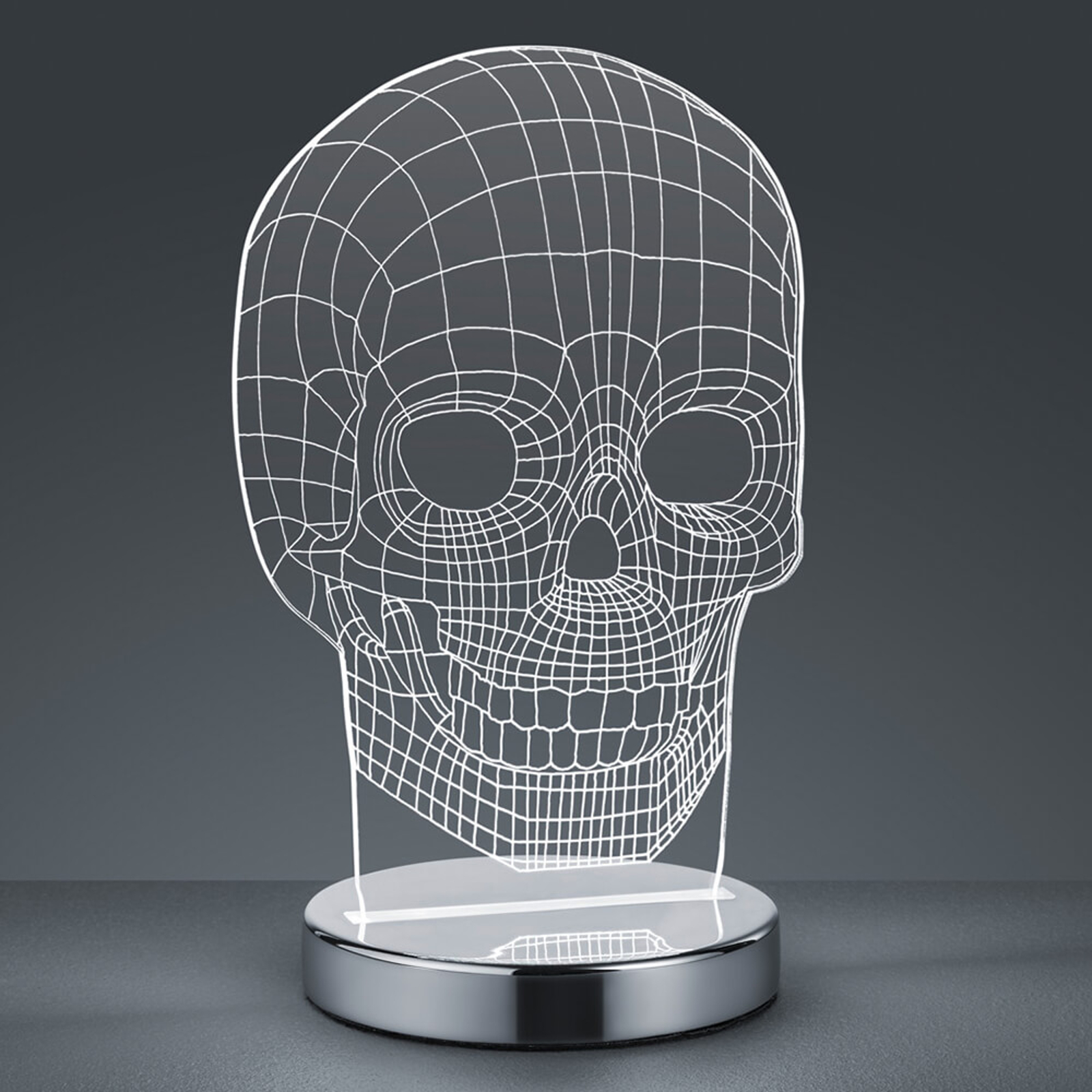 Justerbar farge - LED-bordlampe Skull