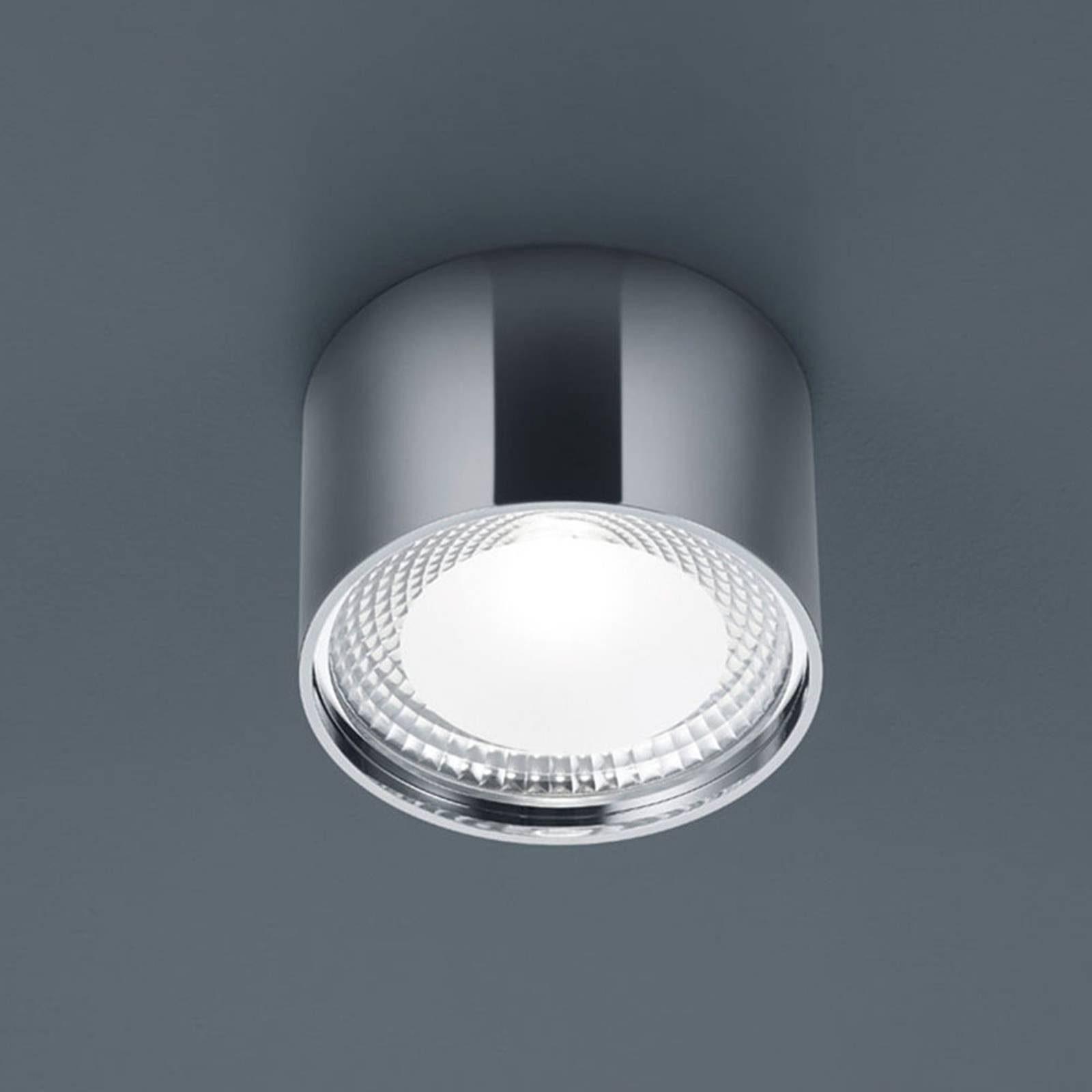 Helestra Kari LED-Deckenleuchte, rund, chrom