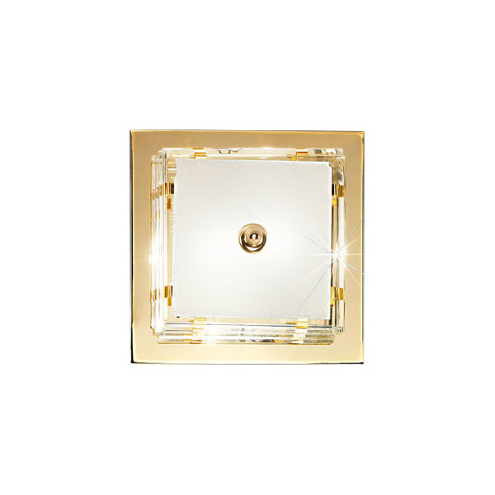 Plafondlamp Ontario, 39 x 39 cm, goud