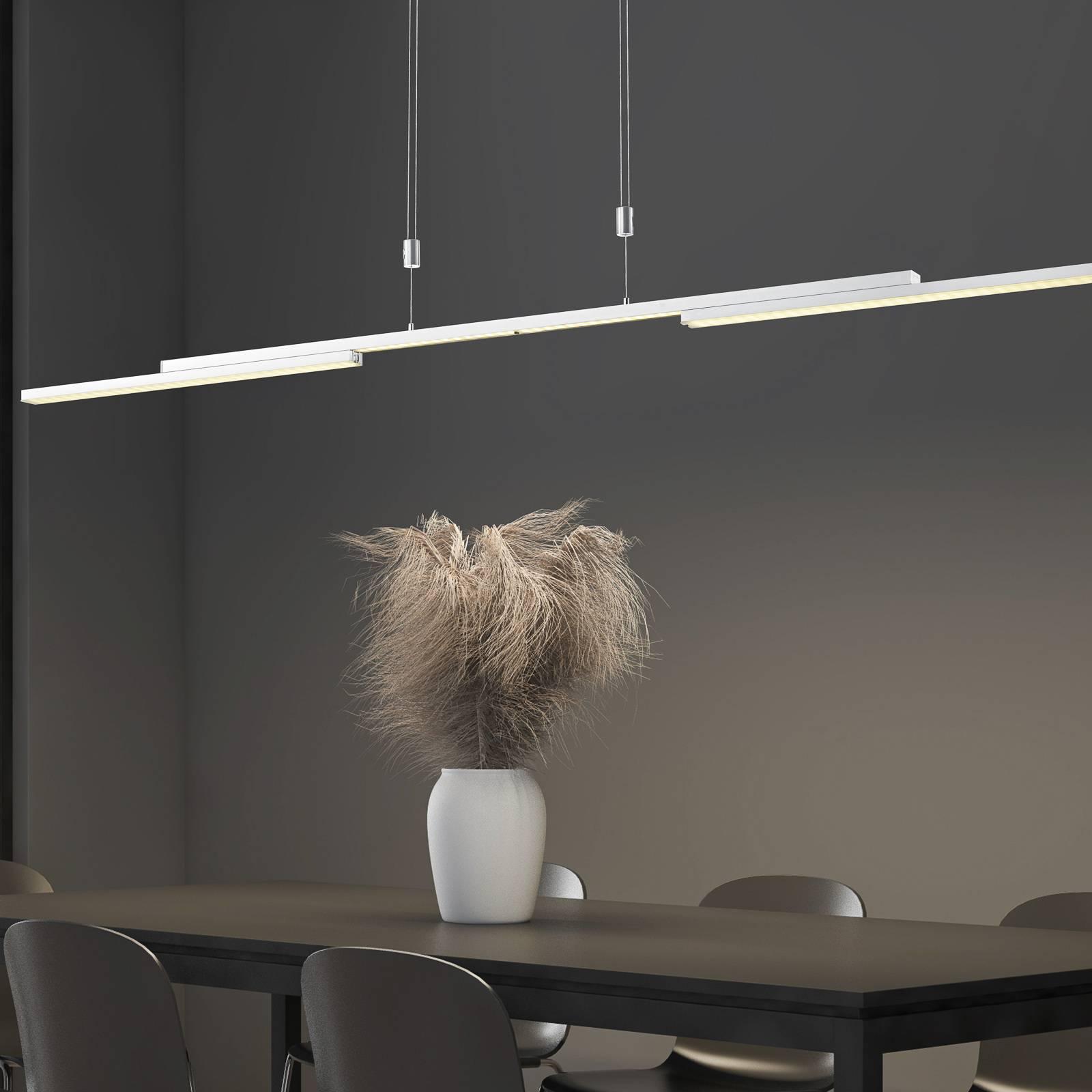 B-Leuchten Expanda-X LED hanglamp, nikkel