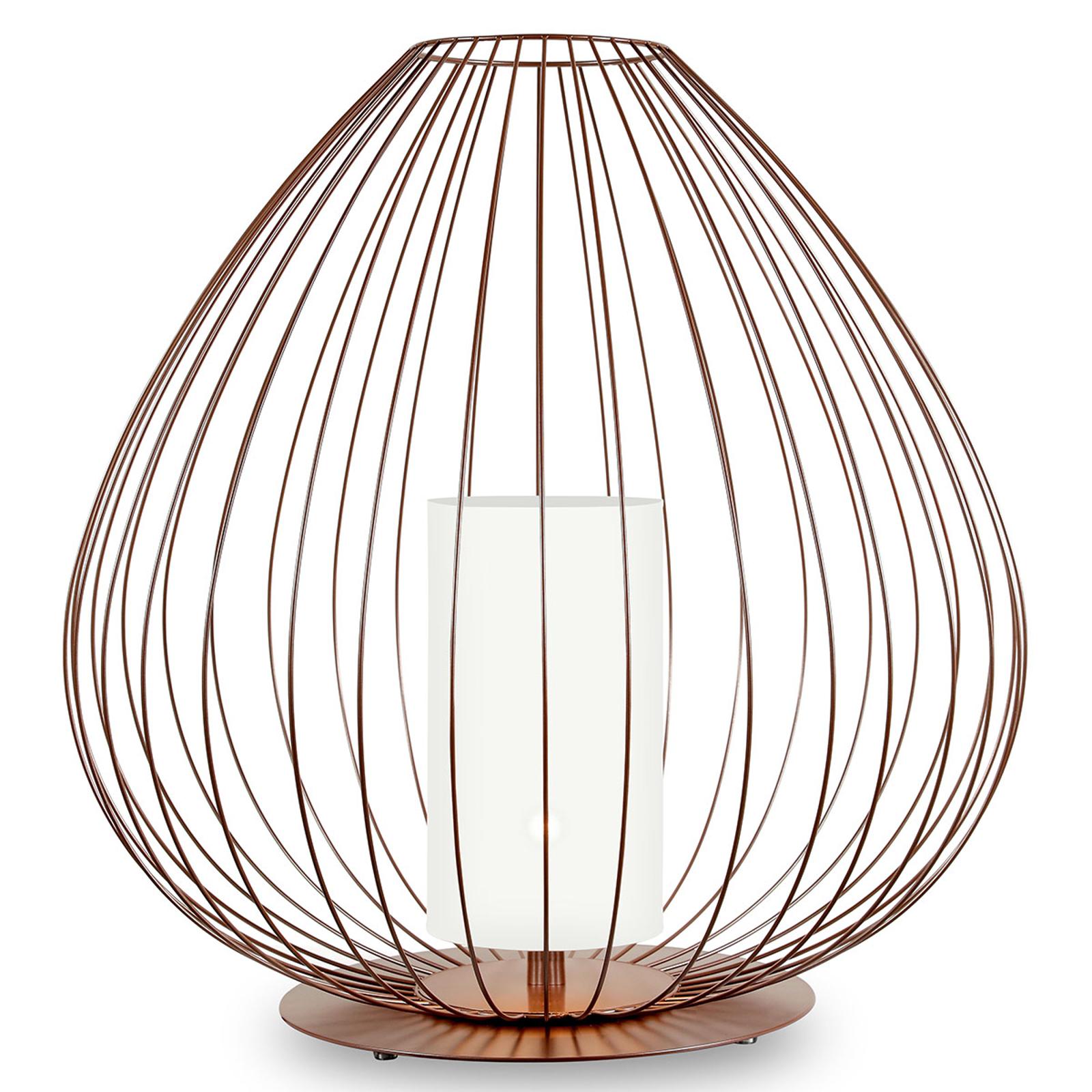 Karman Cell - klatkowa lampa stołowa 62 cm brązowa