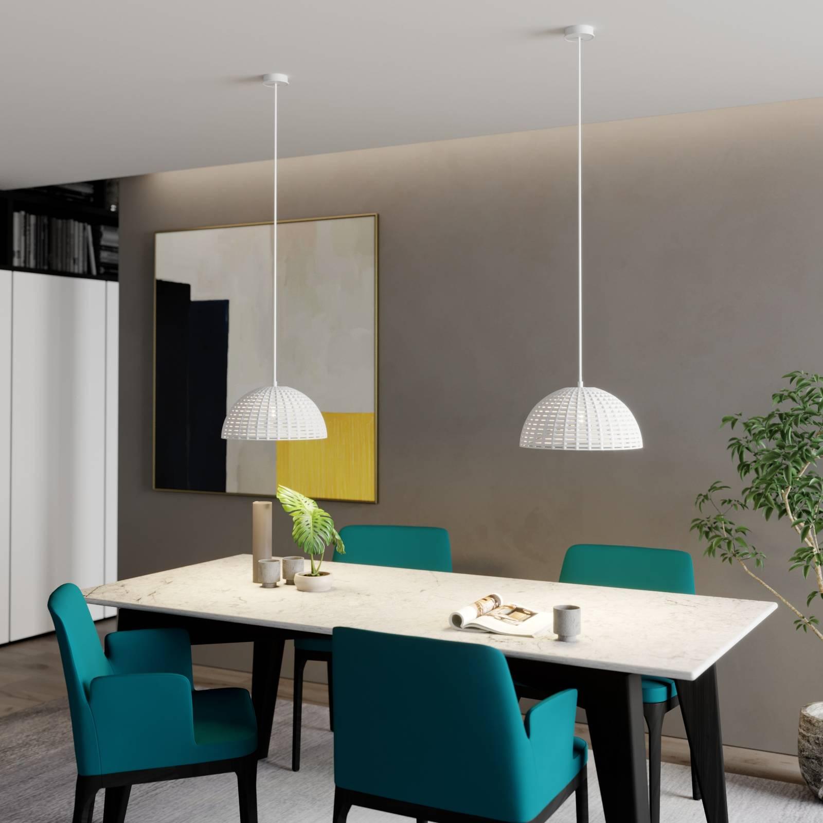 Lucande Herdis hanglamp van gips, Ø 34 cm