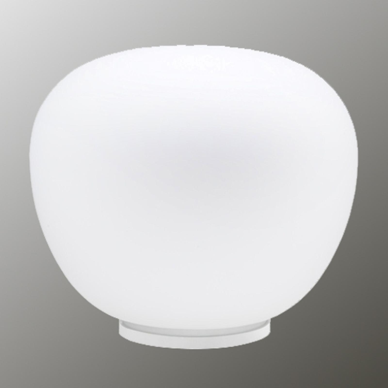 Delikatna biała lampa stołowa MOCHI 38 cm