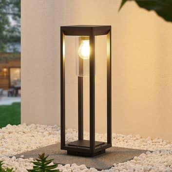 Lindby Estami lampa cokołowa, 50 cm, ciemnoszara