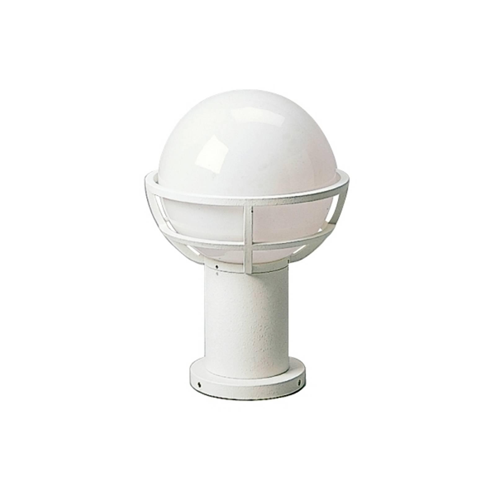 Luminaire pour socle blanc avec verre opale