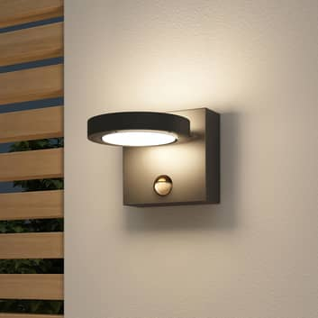 Lucande Belna LED buitenwandlamp, grafiet, sensor