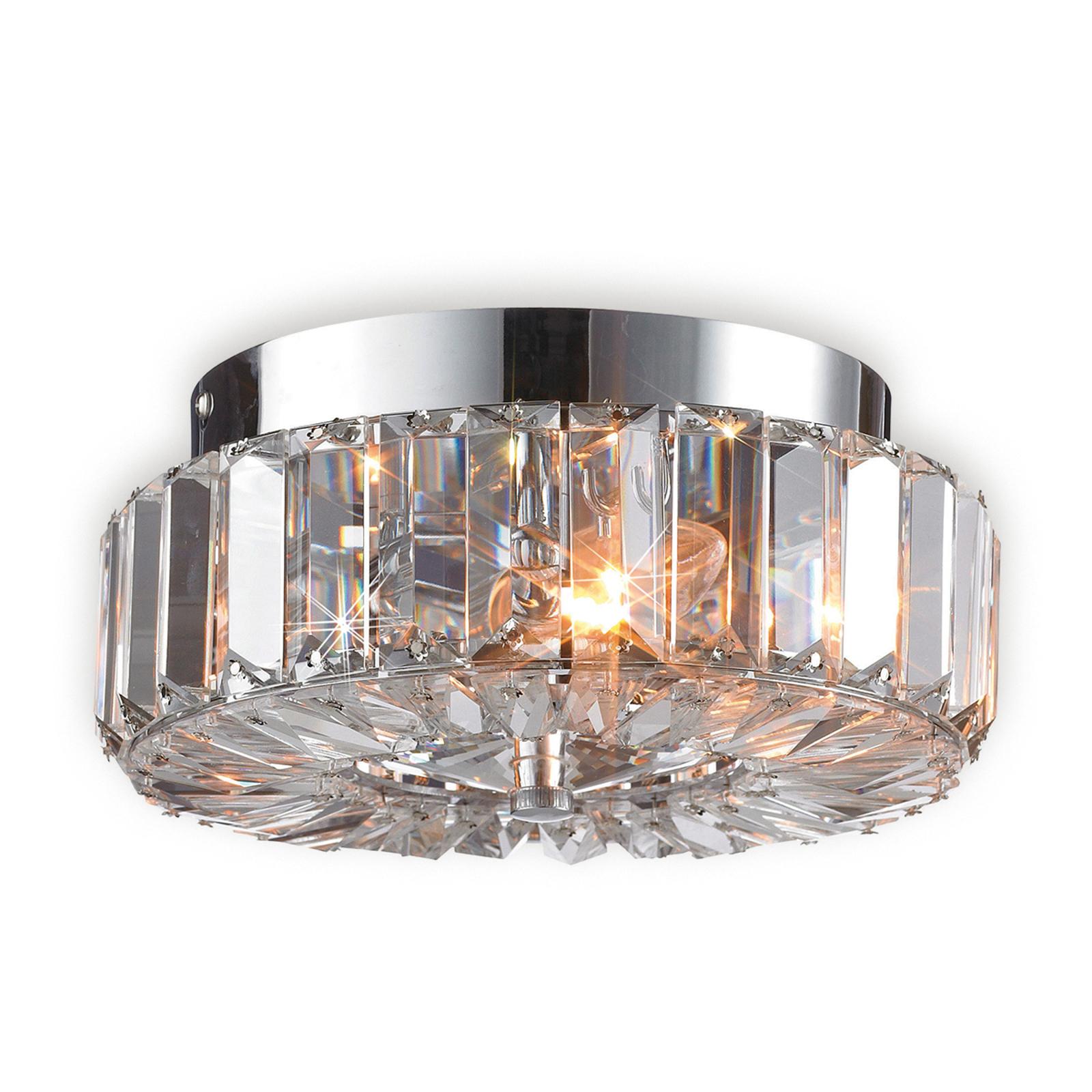 Fascinerende taklampe ULRIKSDAL med krystall