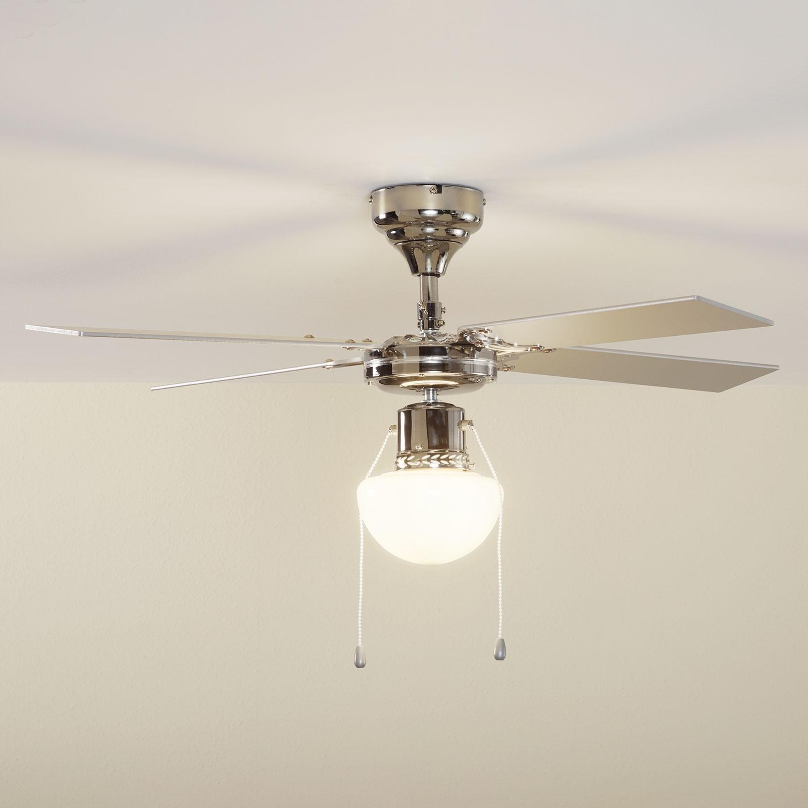 Světelný stropní ventilátor Milana, E27