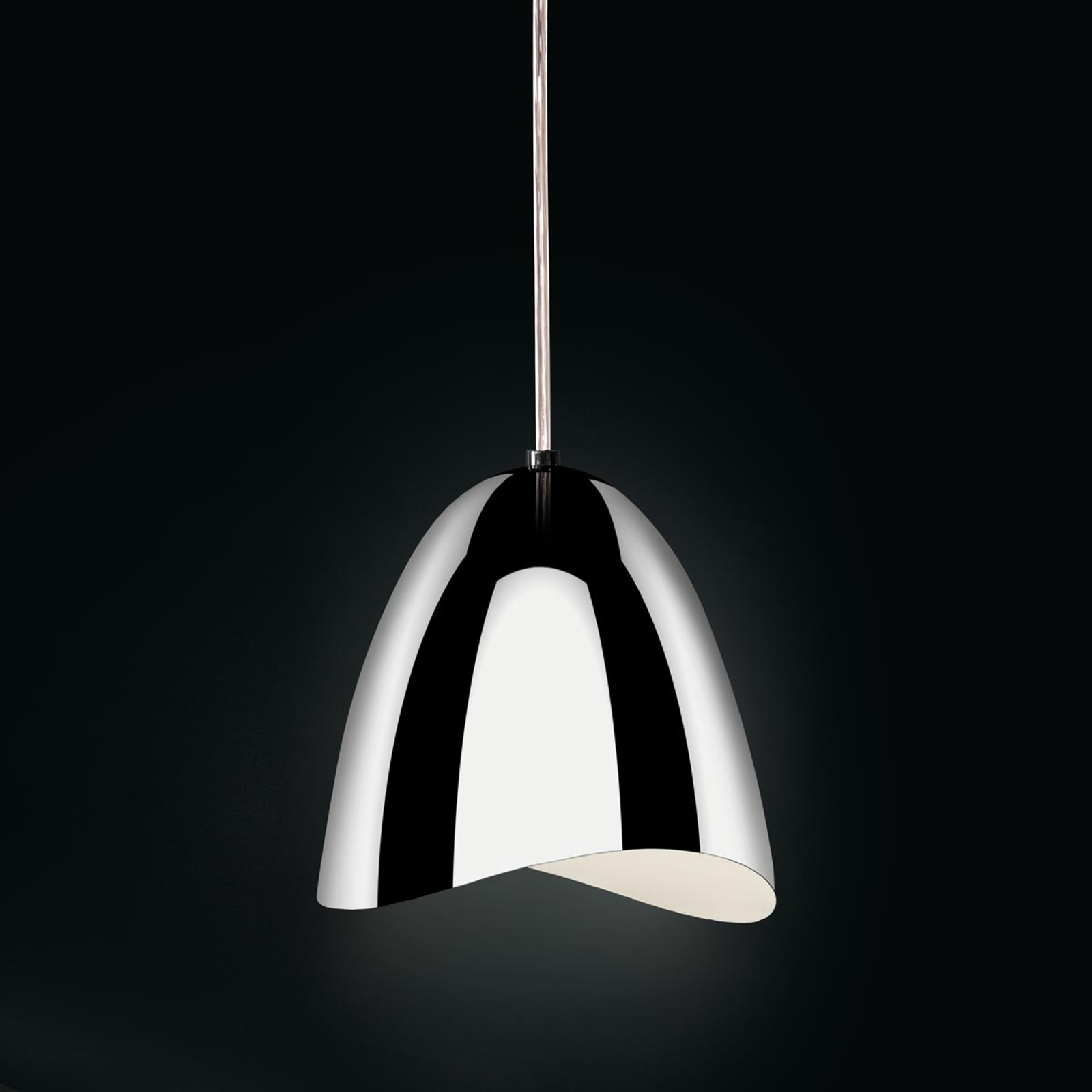 Suspension LED Mirage chromé brillant