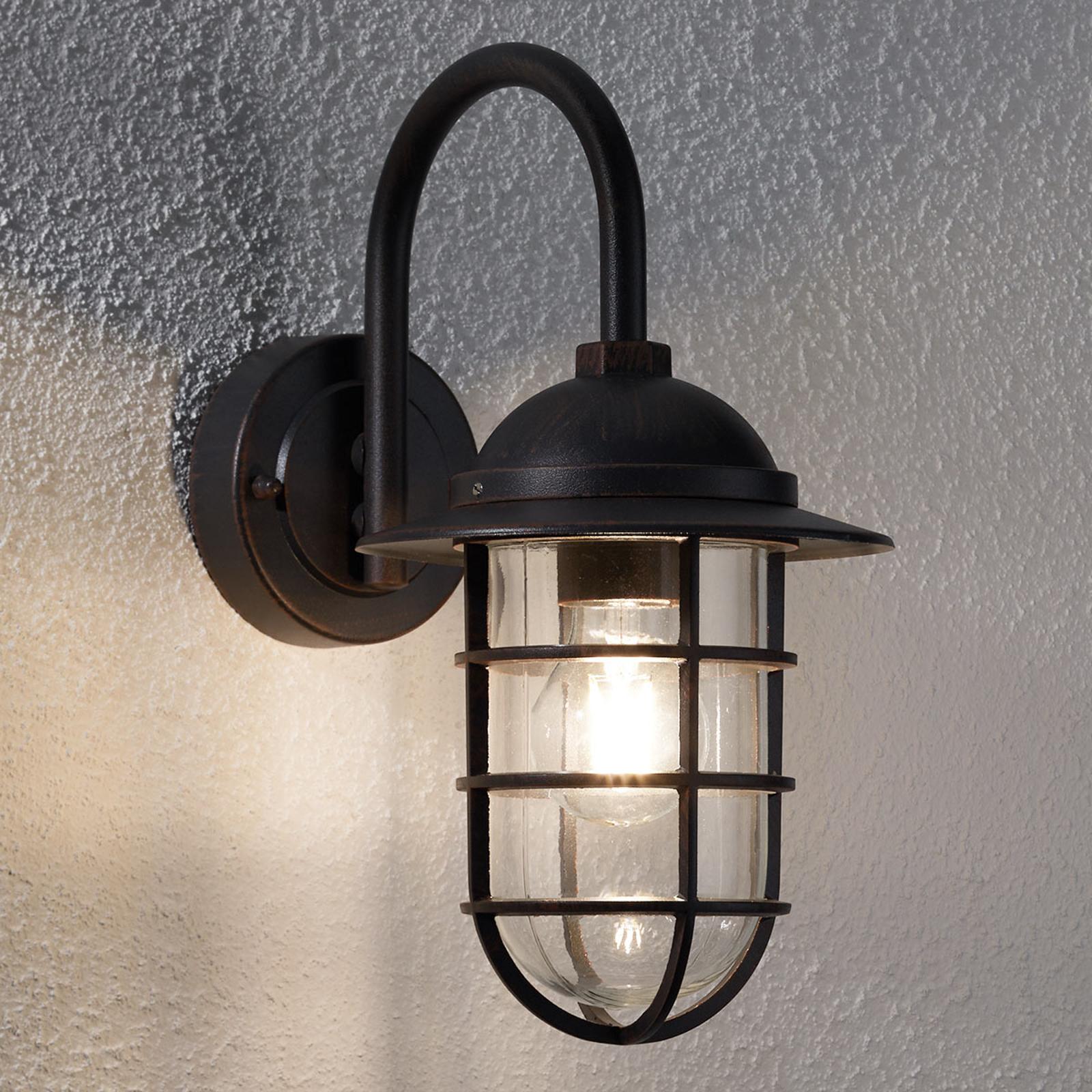 Buitenwandlamp Gero met gebogen arm