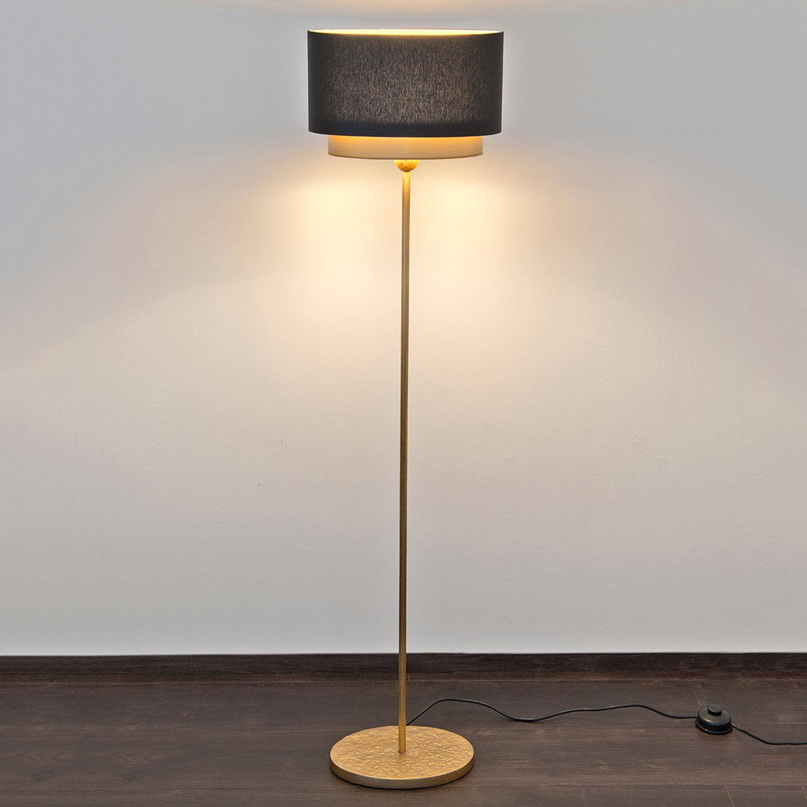 Lampadaire brillant Mattia Oval