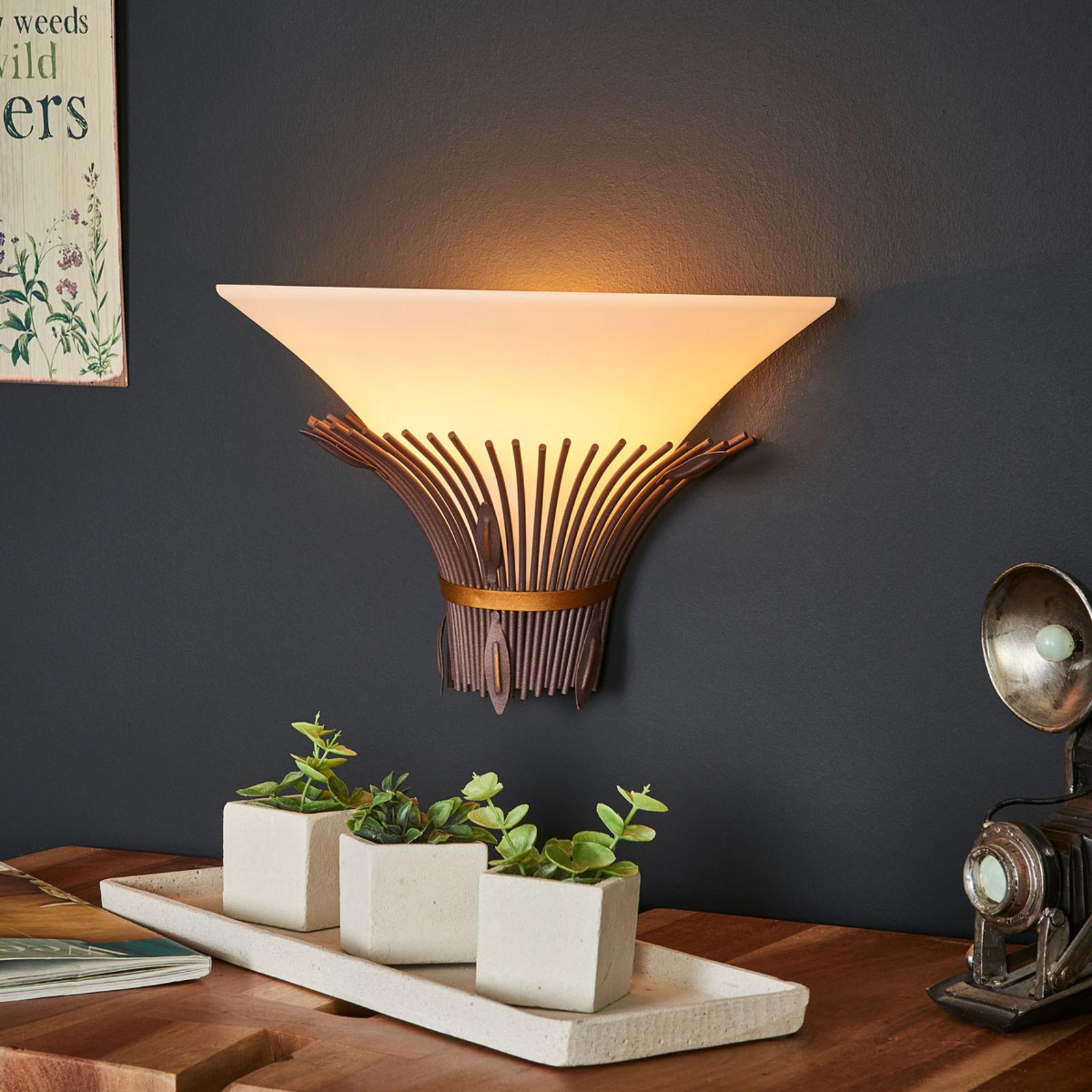 Afrikaans geïnspireerde wandlamp Canna