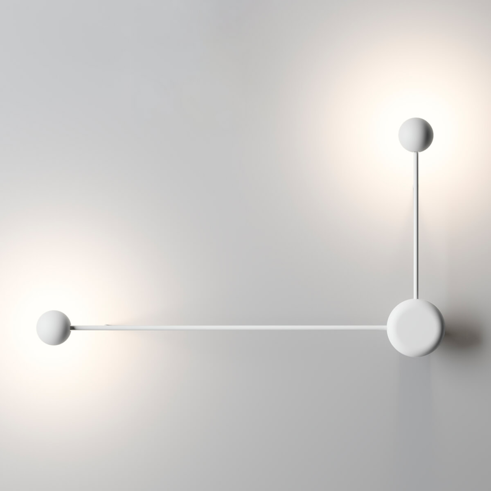 Applique LED design Pin, blanche 2 lampes