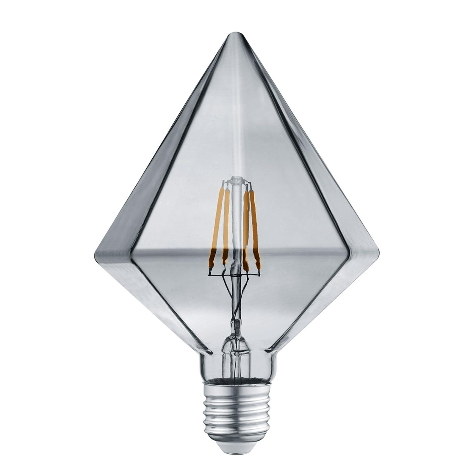 LED-pære E27 4 W 3000K diamant røykfarget